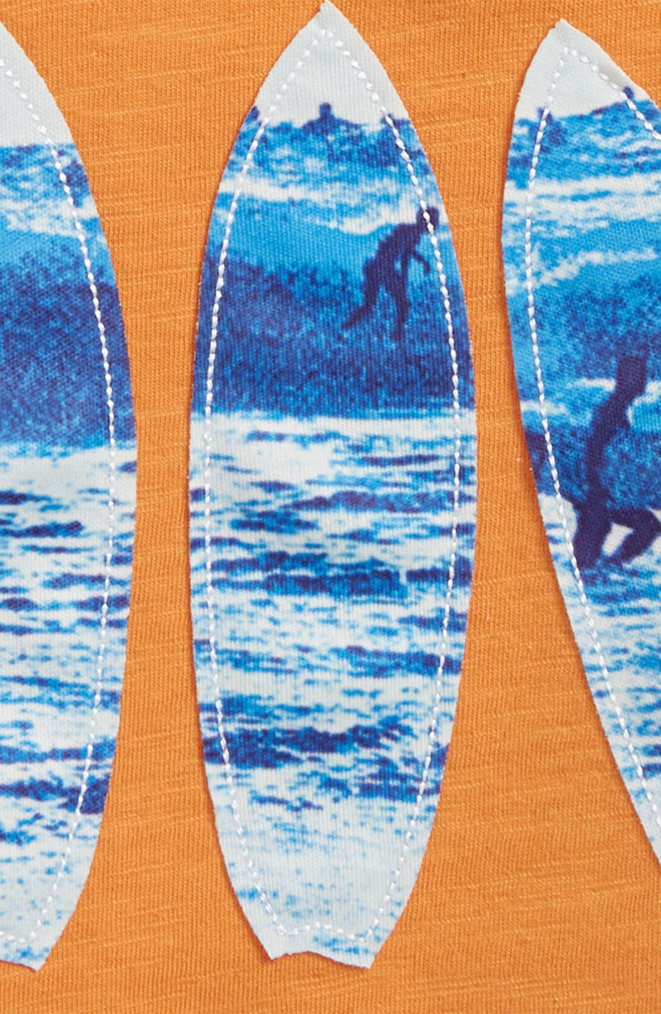 Surfboard Appliqué T-Shirt,                             Alternate thumbnail 2, color,                             801