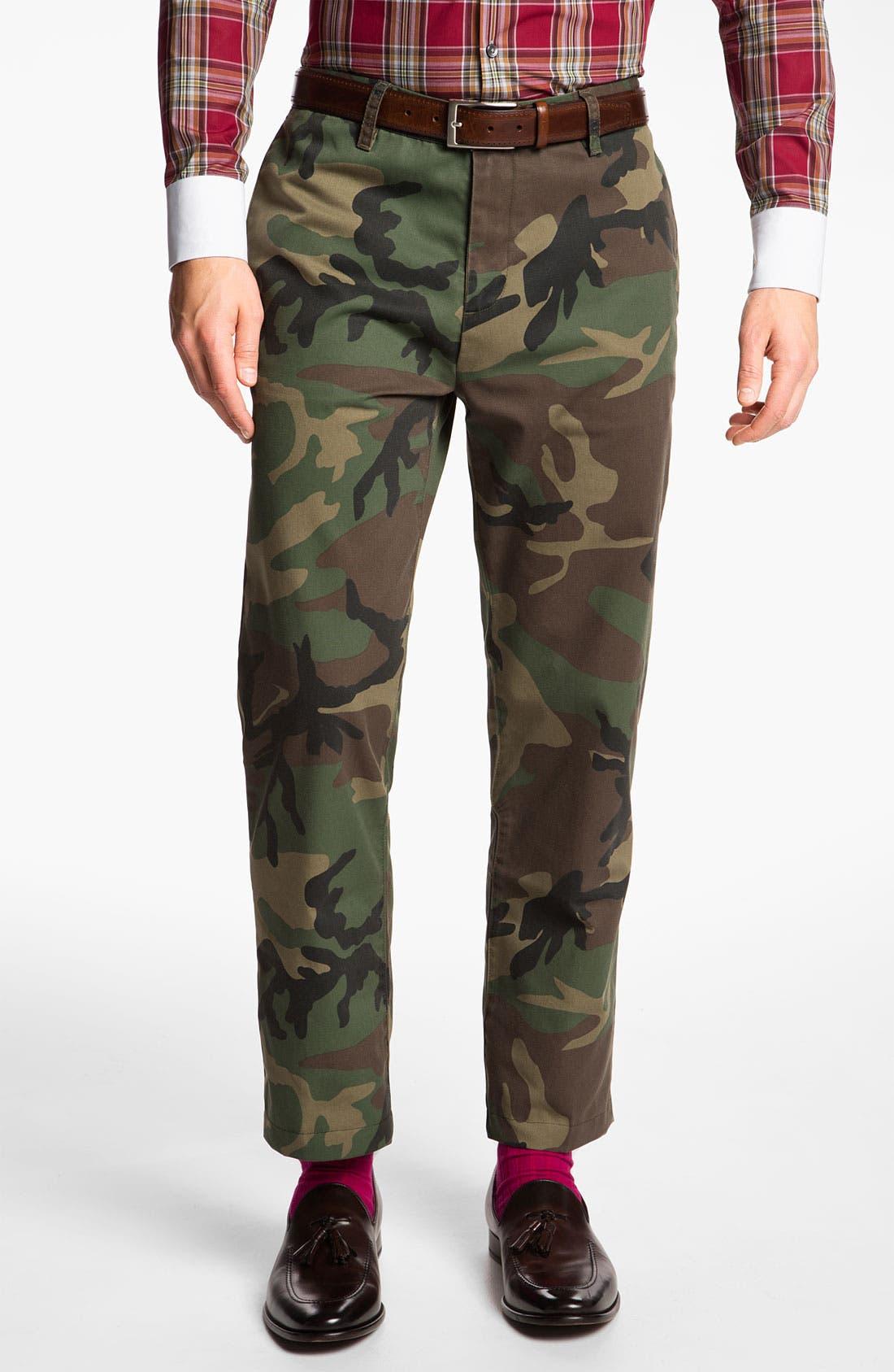 'Ryan' Straight Leg Camo Trousers, Main, color, 340