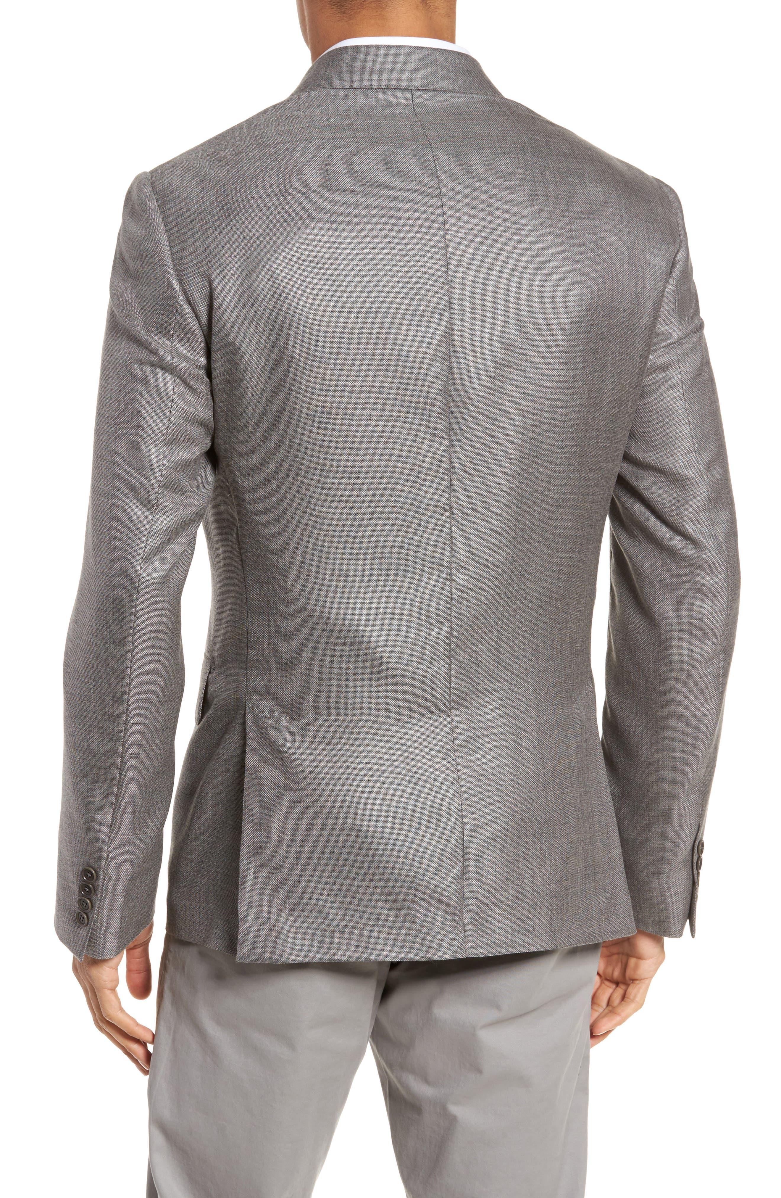 Trim Fit Cashmere & Silk Blazer,                             Alternate thumbnail 2, color,                             030