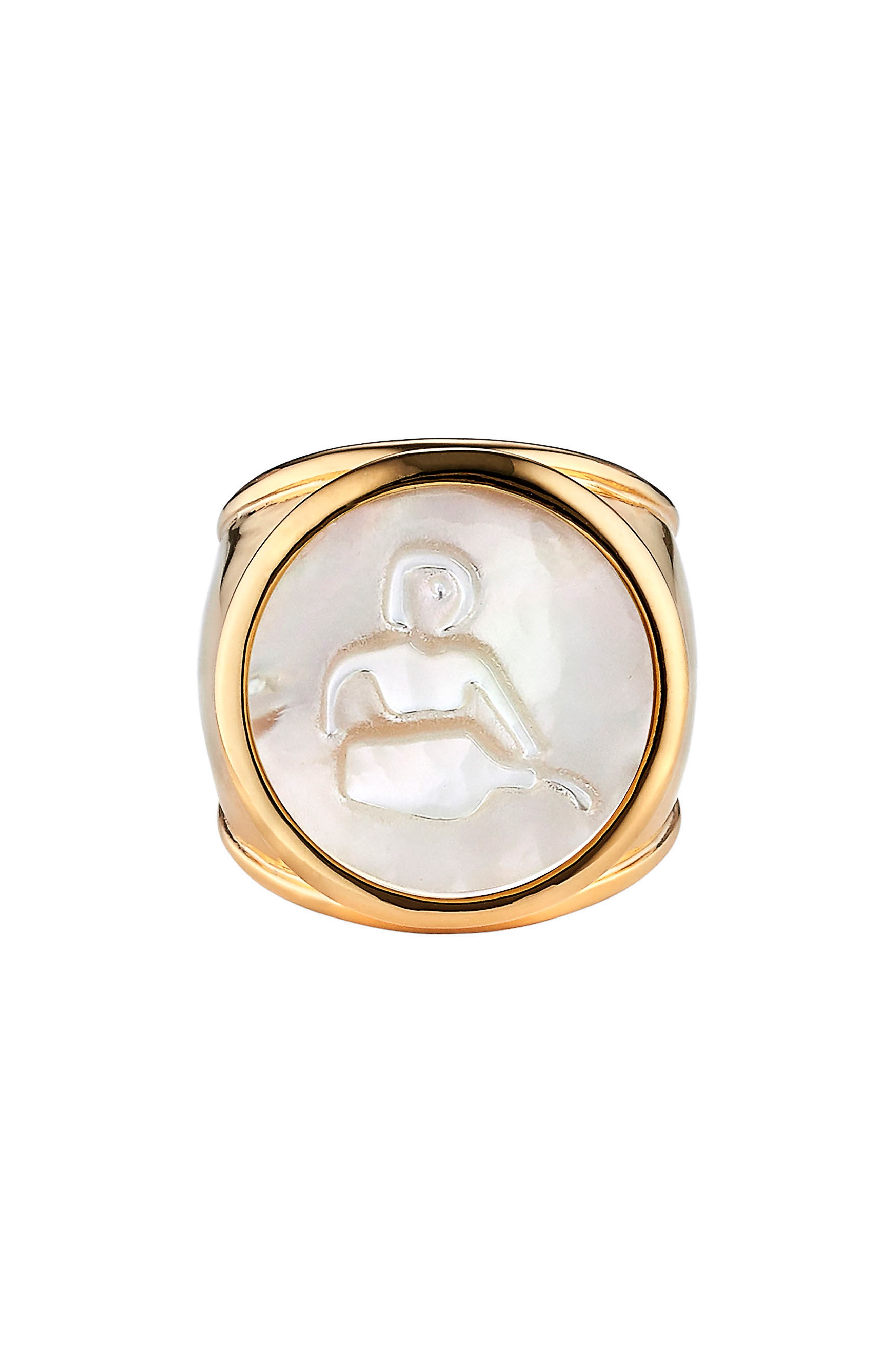 Zodiac Mother-of-Pearl Ring,                         Main,                         color, 100