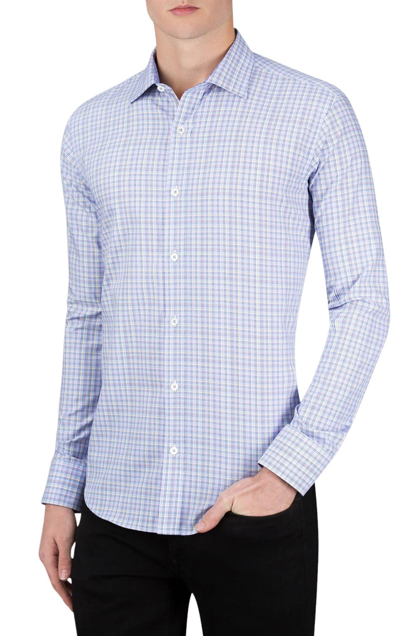 Classic Fit Check Sport Shirt,                         Main,                         color, 459