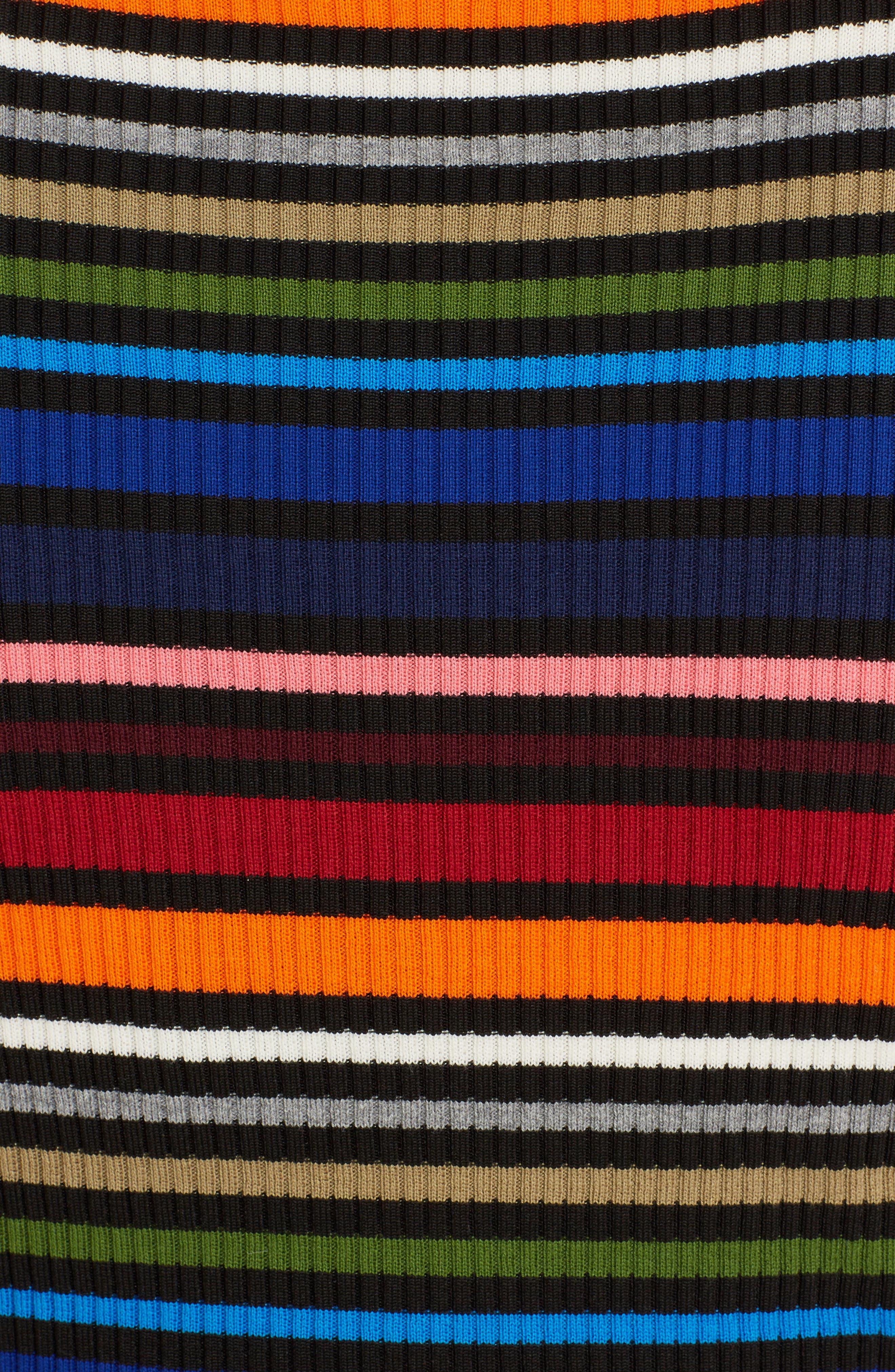 Stripe Sleeveless Sweater,                             Alternate thumbnail 5, color,                             010