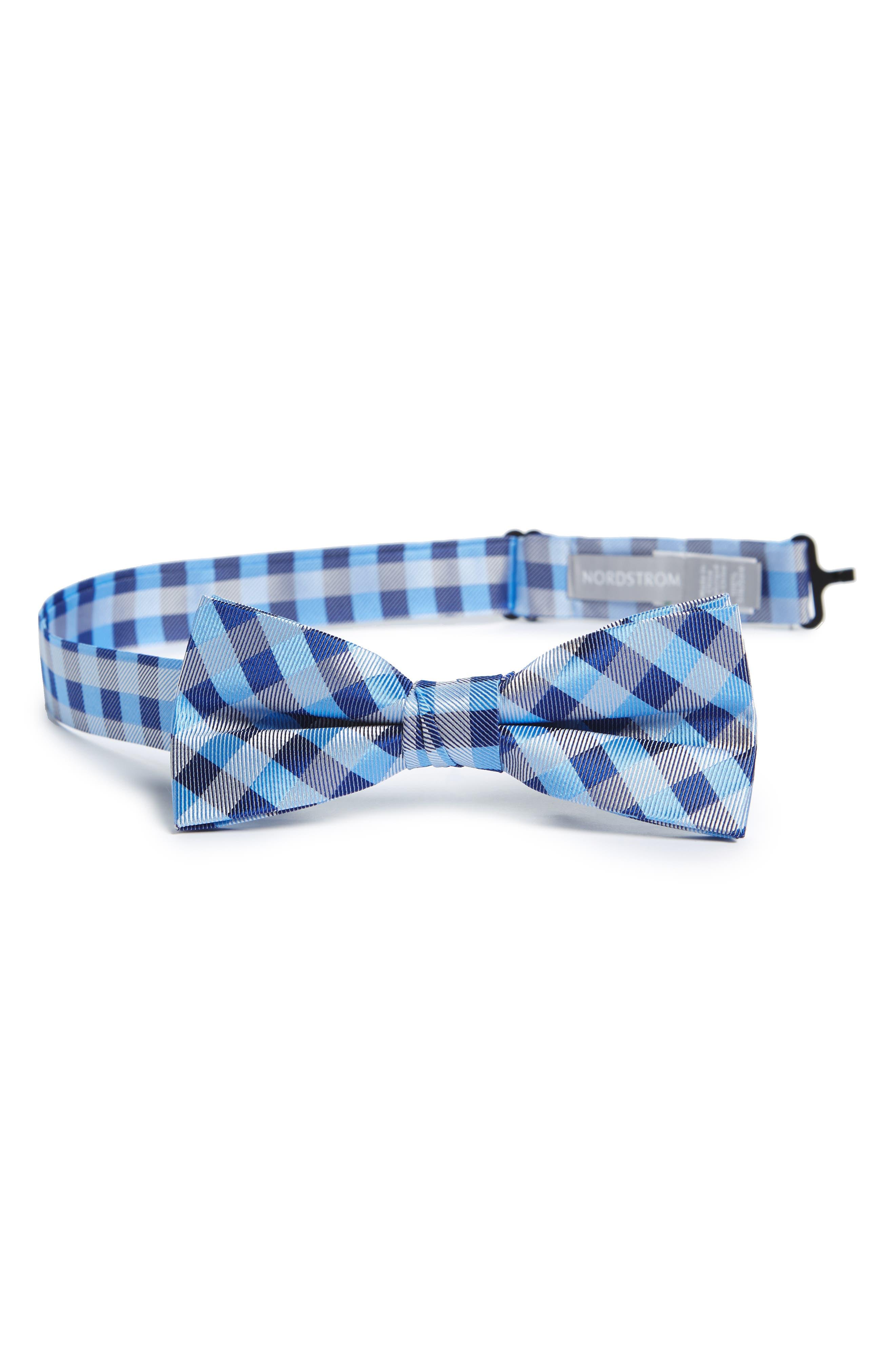 Plaid Silk Bow Tie,                             Main thumbnail 4, color,