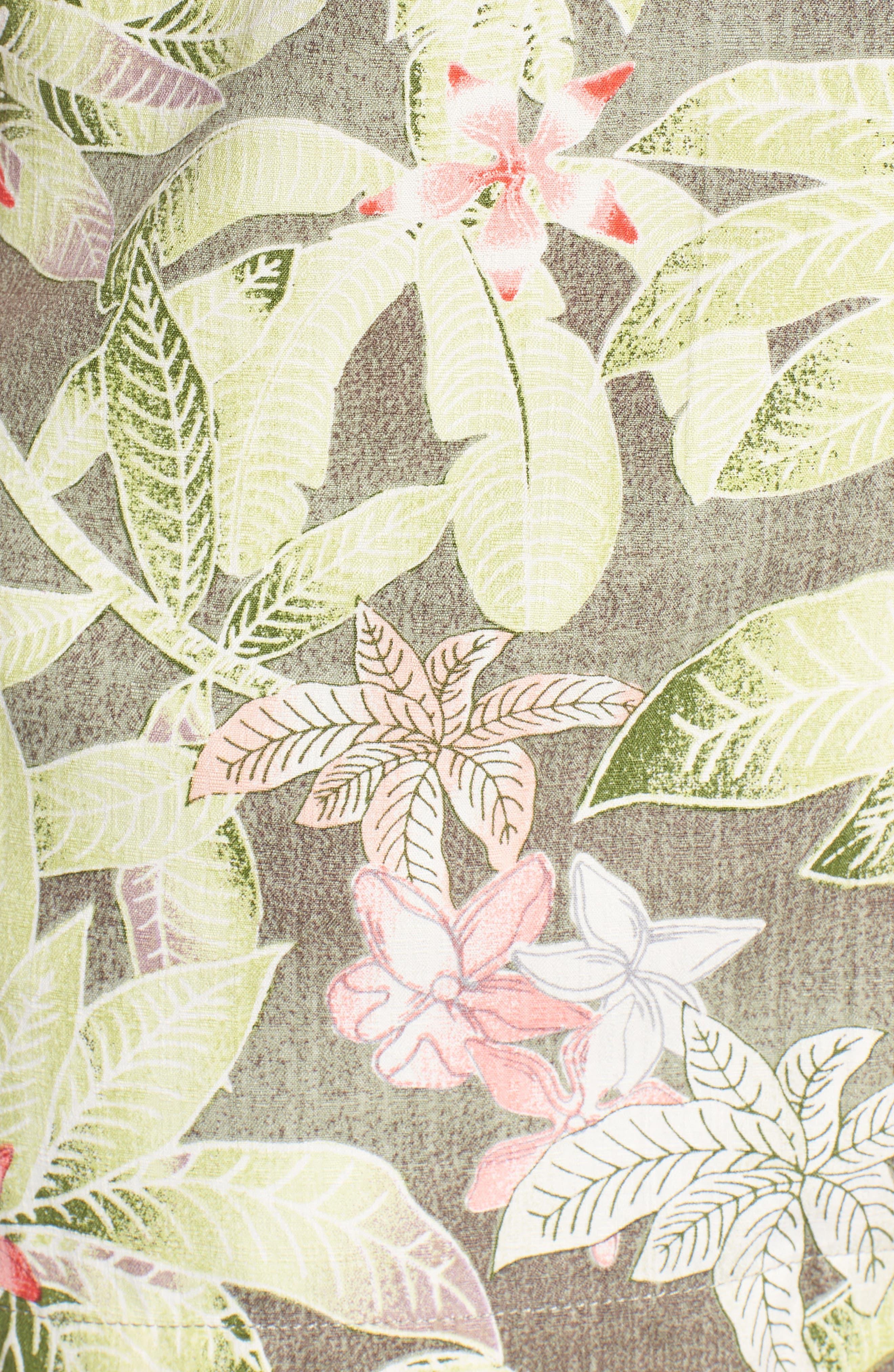 El Medano Jungle Silk Camp Shirt,                             Alternate thumbnail 9, color,