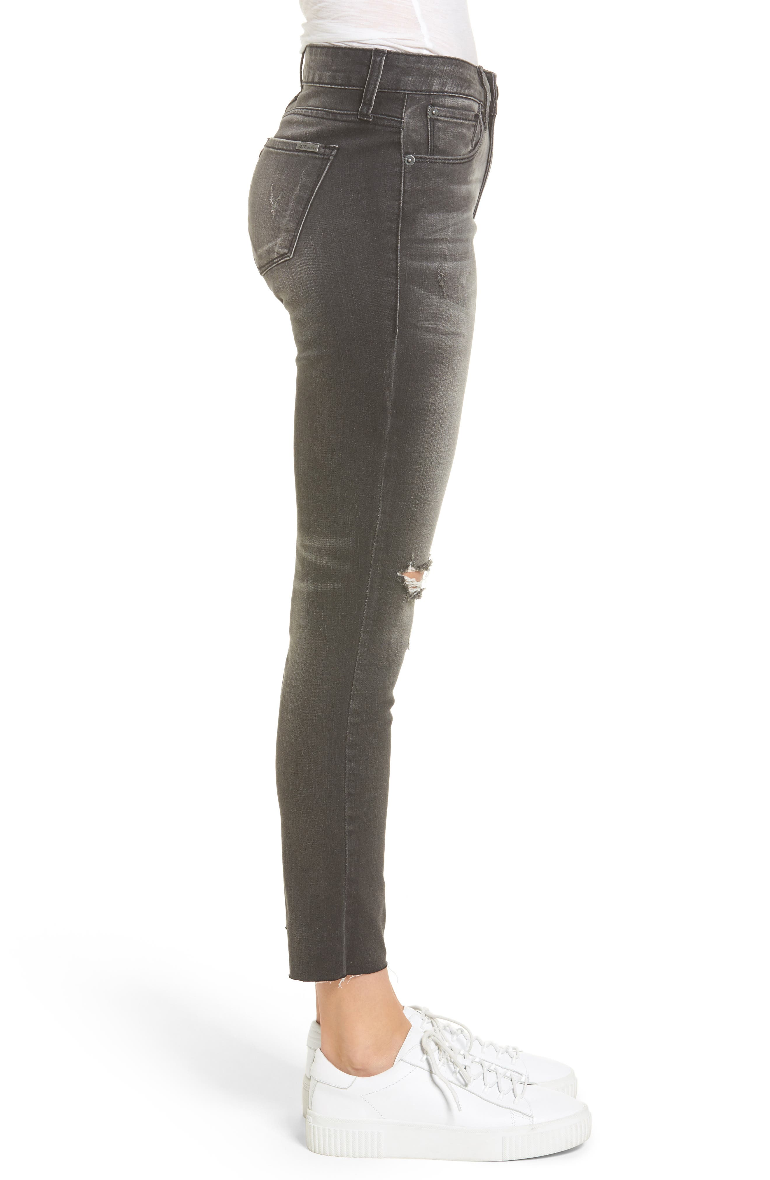 STS Emma Ripped Crop Skinny Jeans,                             Alternate thumbnail 3, color,                             001