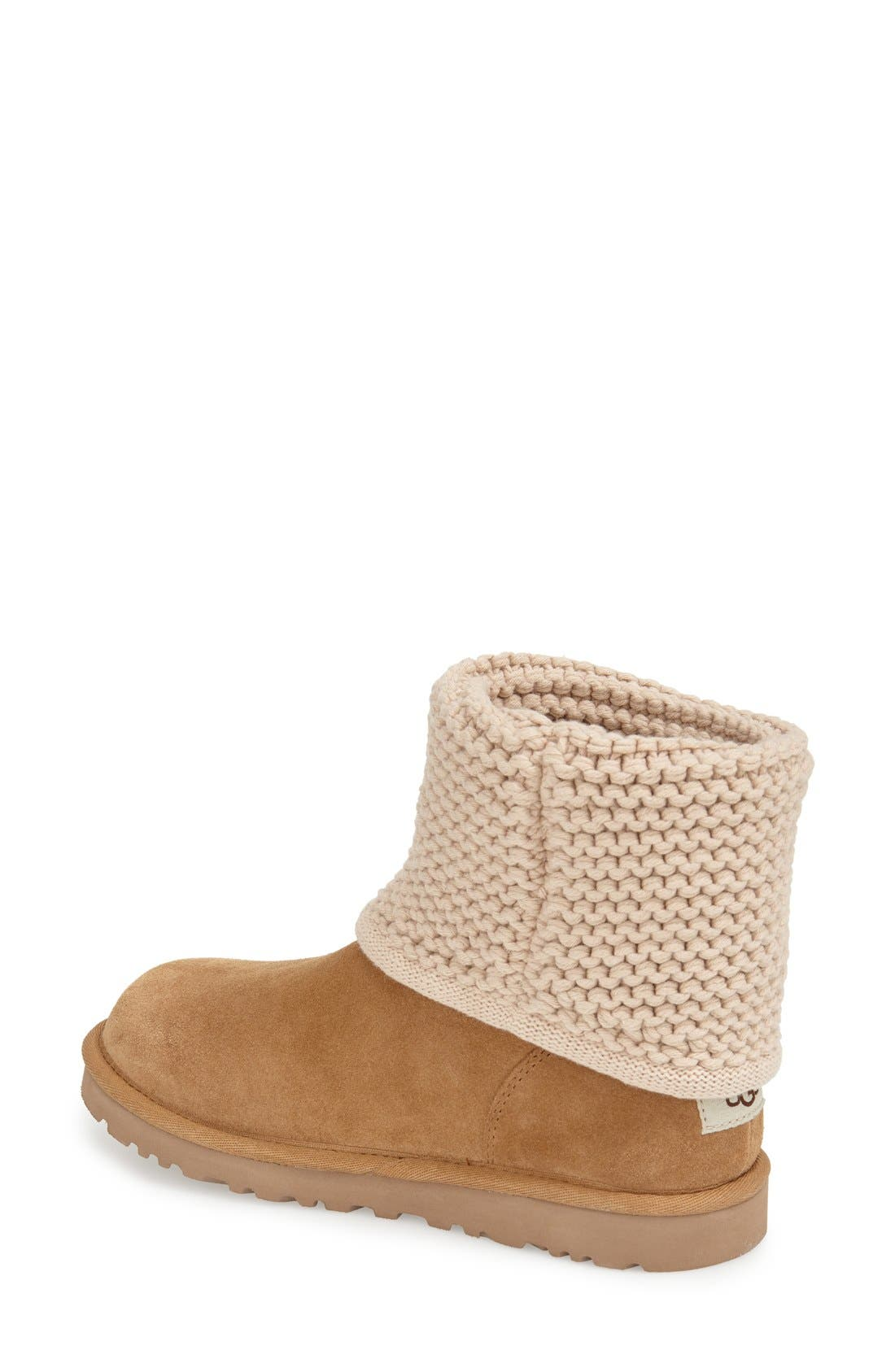 Shaina Knit Cuff Bootie,                             Alternate thumbnail 7, color,