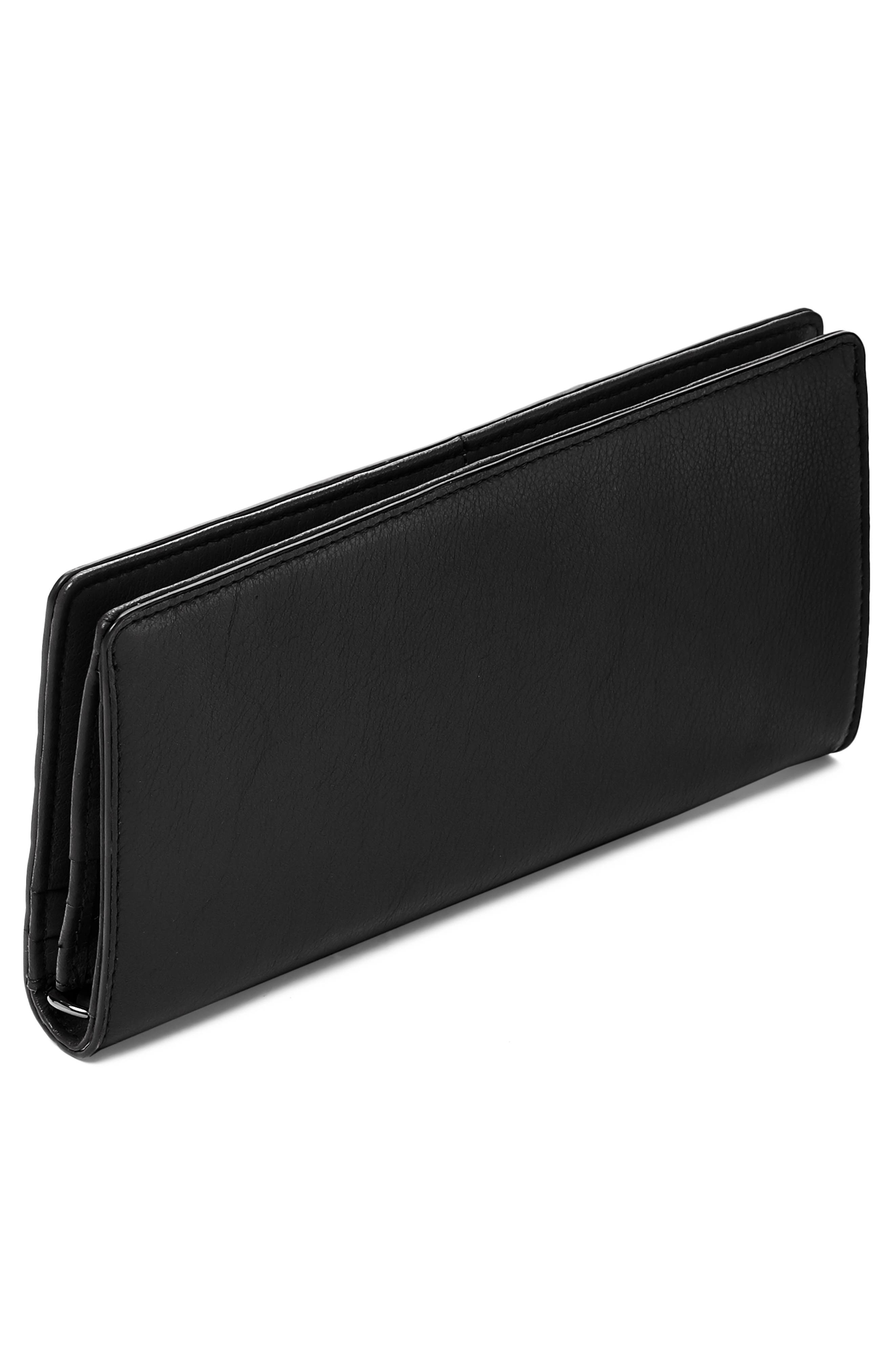 Moto Leather Continental Wallet,                             Alternate thumbnail 2, color,                             BLACK