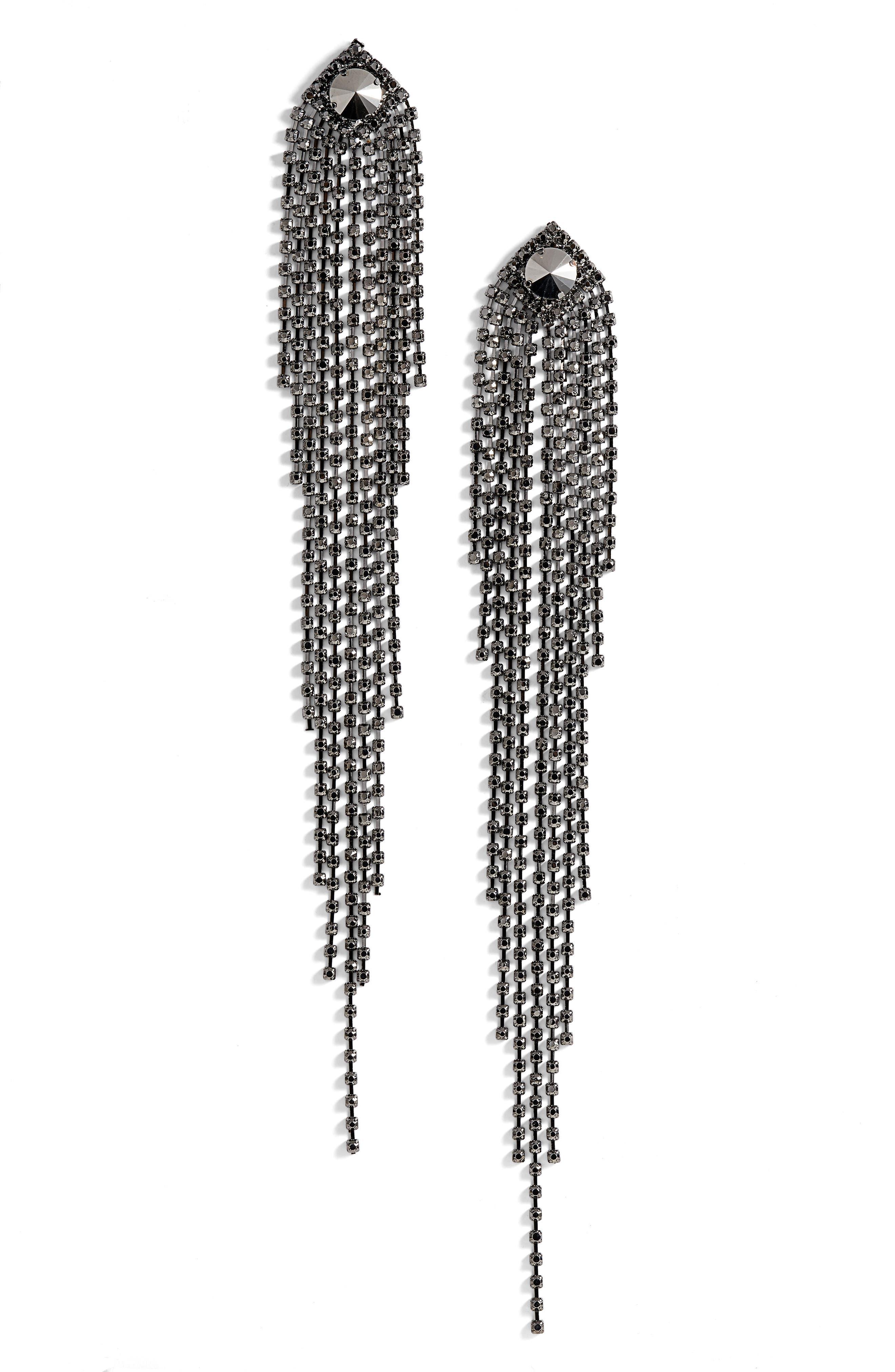 Drama Crystal Shoulder Duster Earrings,                             Main thumbnail 1, color,                             040