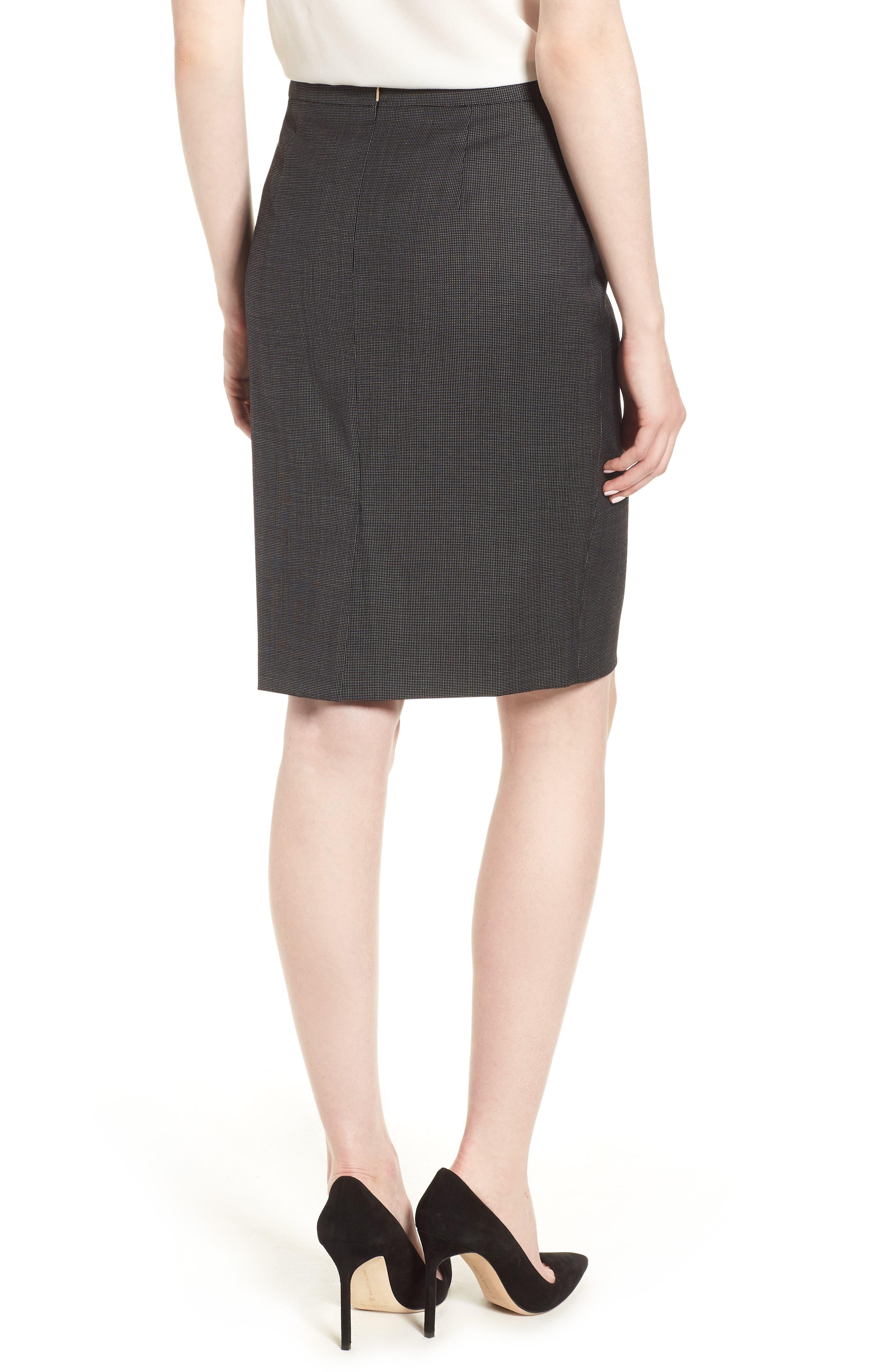 Vimena Stretch Wool Blend Suit Skirt,                             Alternate thumbnail 2, color,                             009