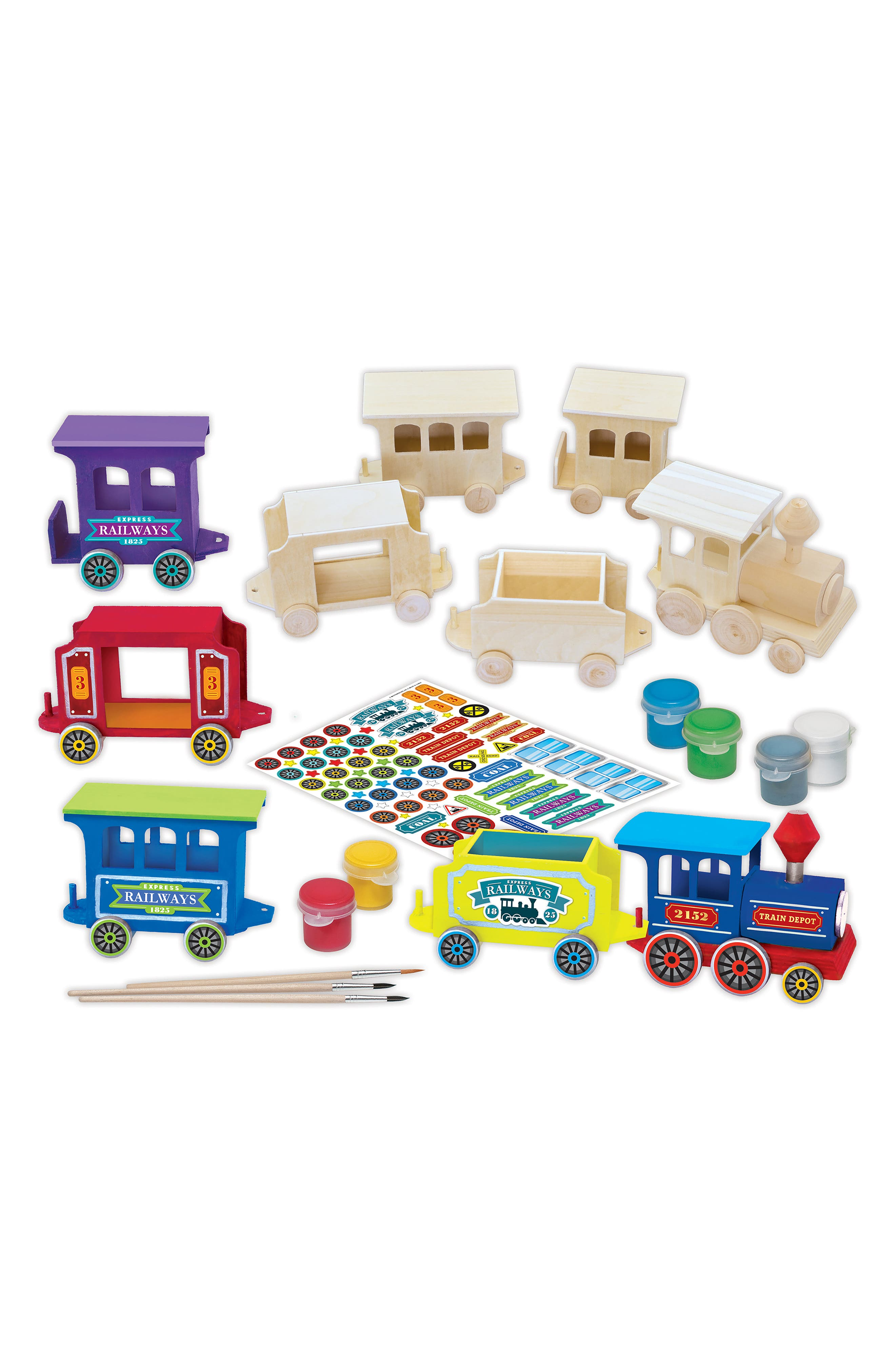 Holiday Express Train 2018 Wood Craft & Paint Kit,                             Alternate thumbnail 2, color,                             960