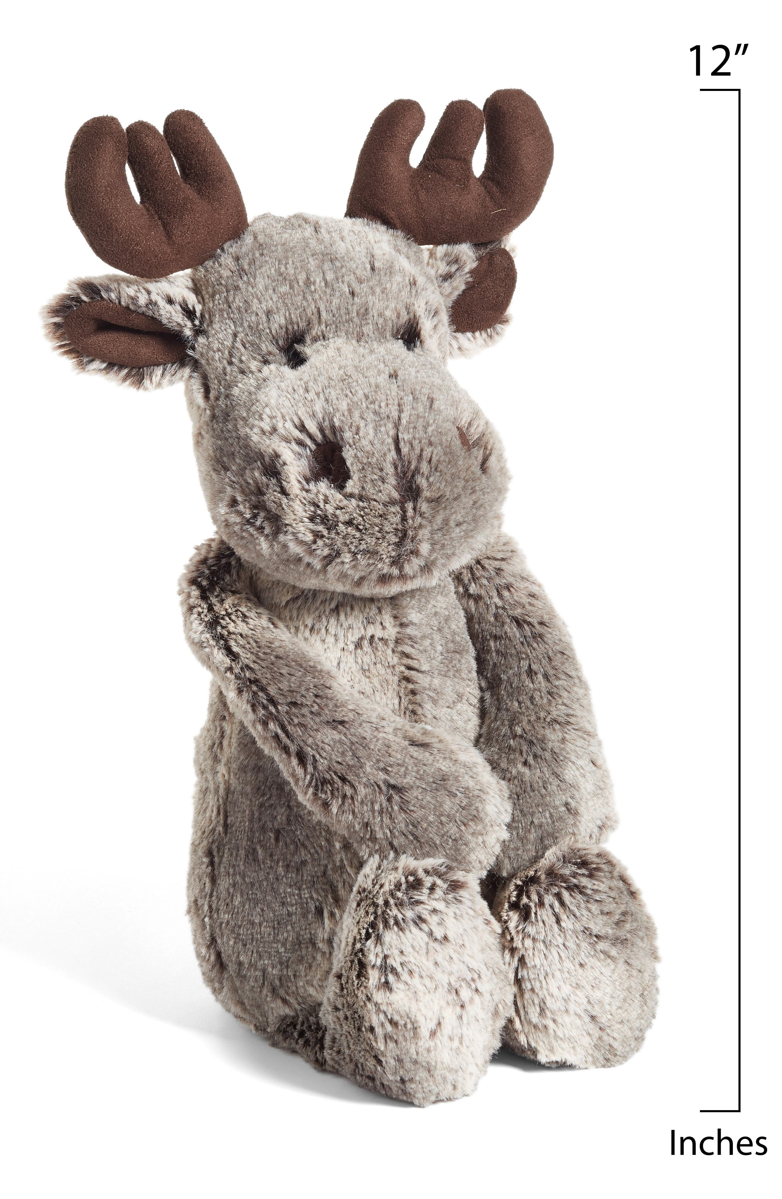 'Woodland Babe Moose' Stuffed Animal,                             Alternate thumbnail 2, color,                             BROWN