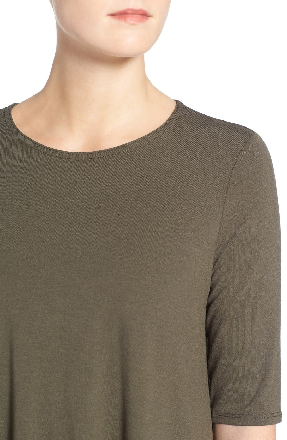 Lightweight Jersey Round Neck Tunic,                             Alternate thumbnail 21, color,