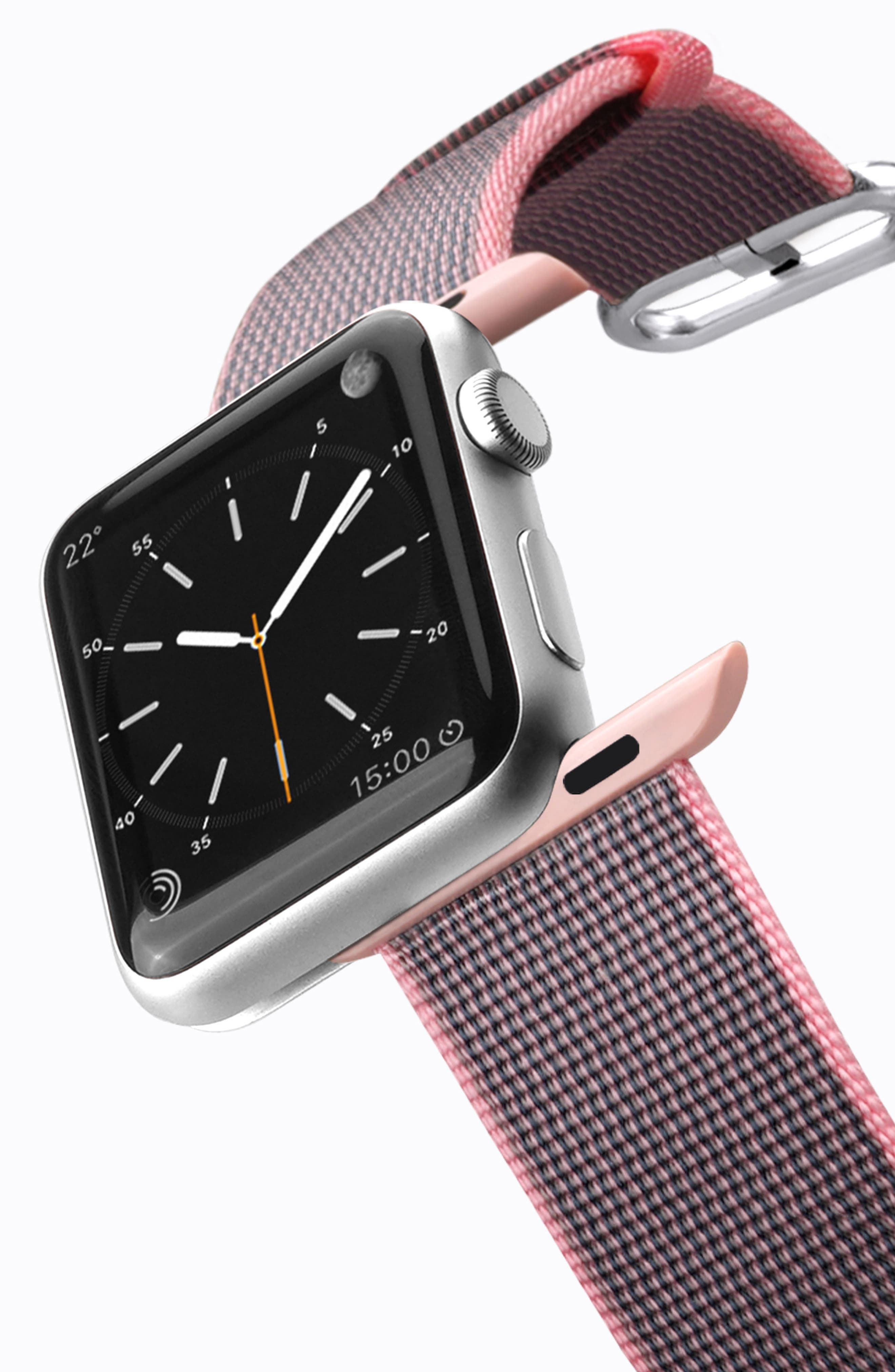 Nylon Apple Watch Strap, 38mm,                             Alternate thumbnail 16, color,