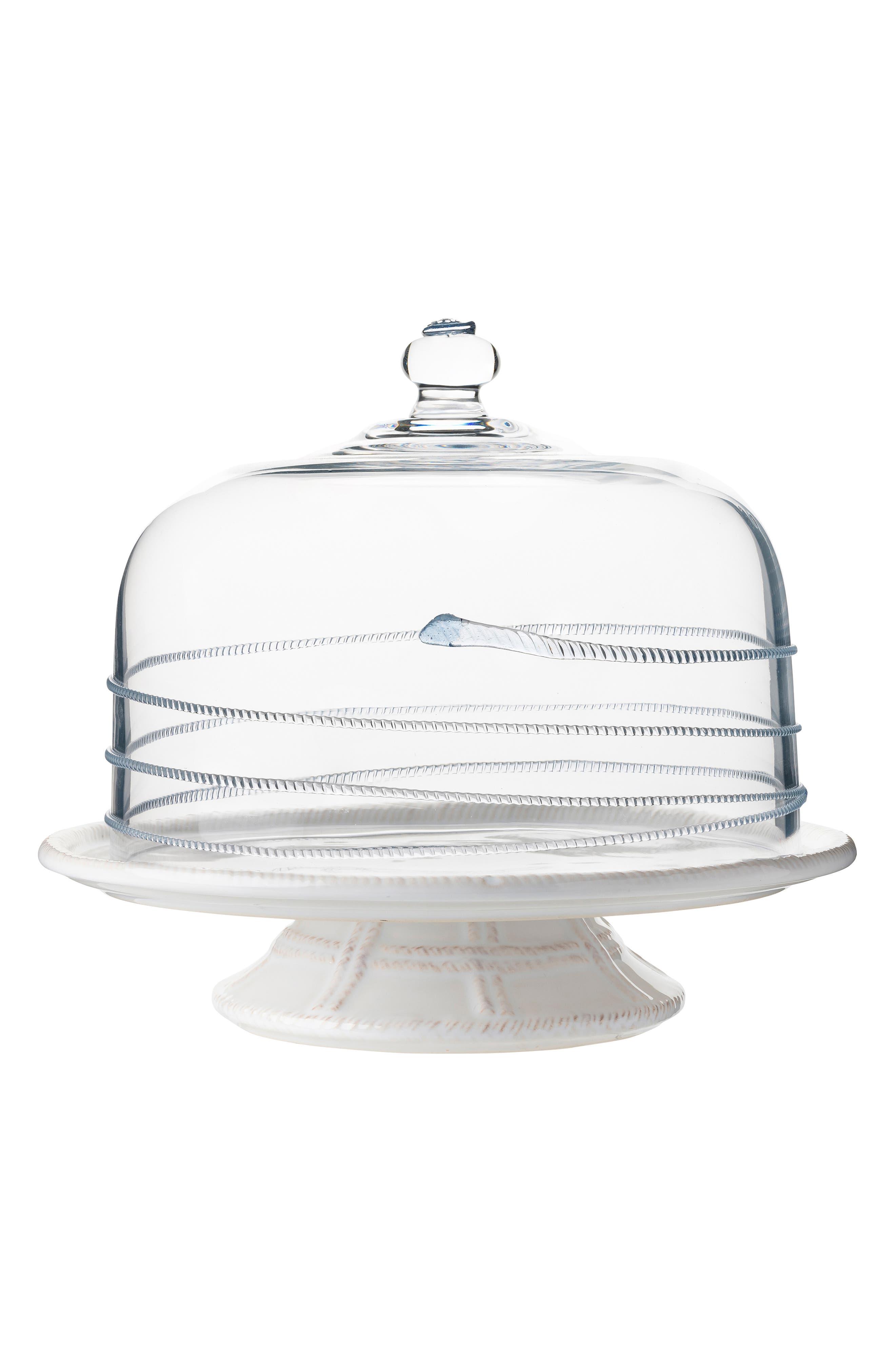 JULISKA,                             Amalia Glass Cake Dome,                             Alternate thumbnail 3, color,                             CLEAR