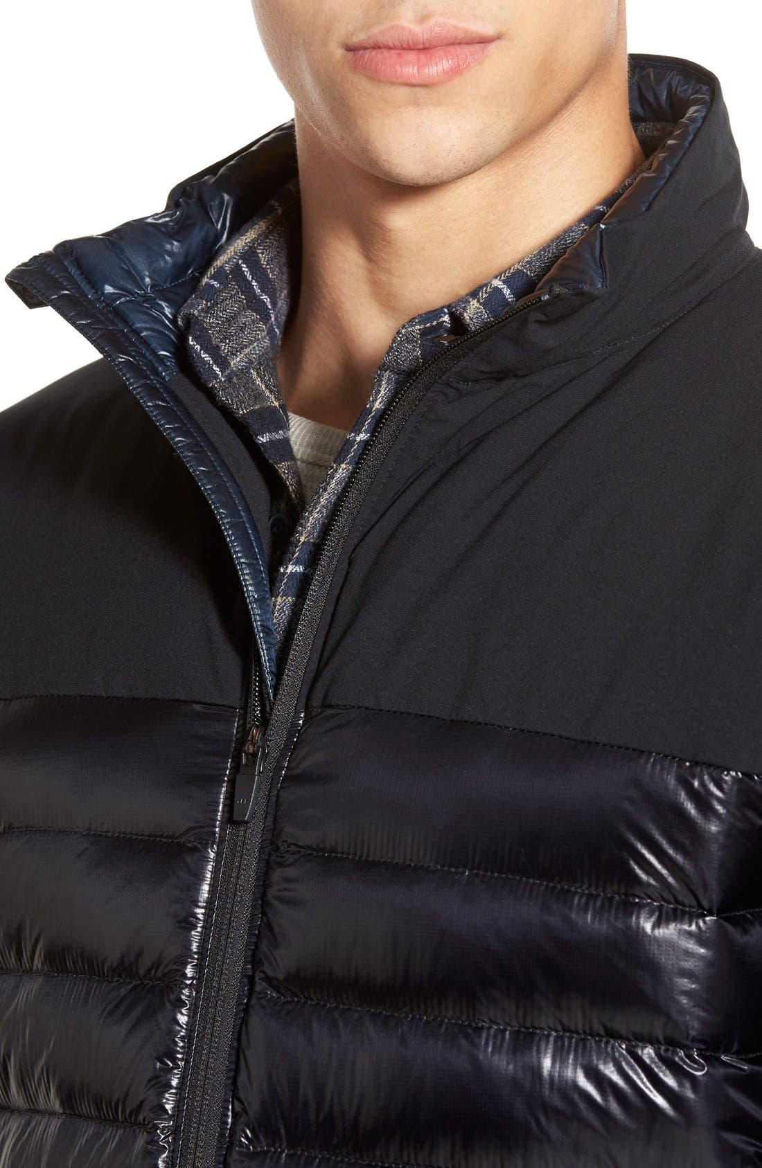 Cole Haan + Mountain Hardwear 'ZeroGrand' Quilted Down Commuter Jacket,                             Alternate thumbnail 4, color,                             001