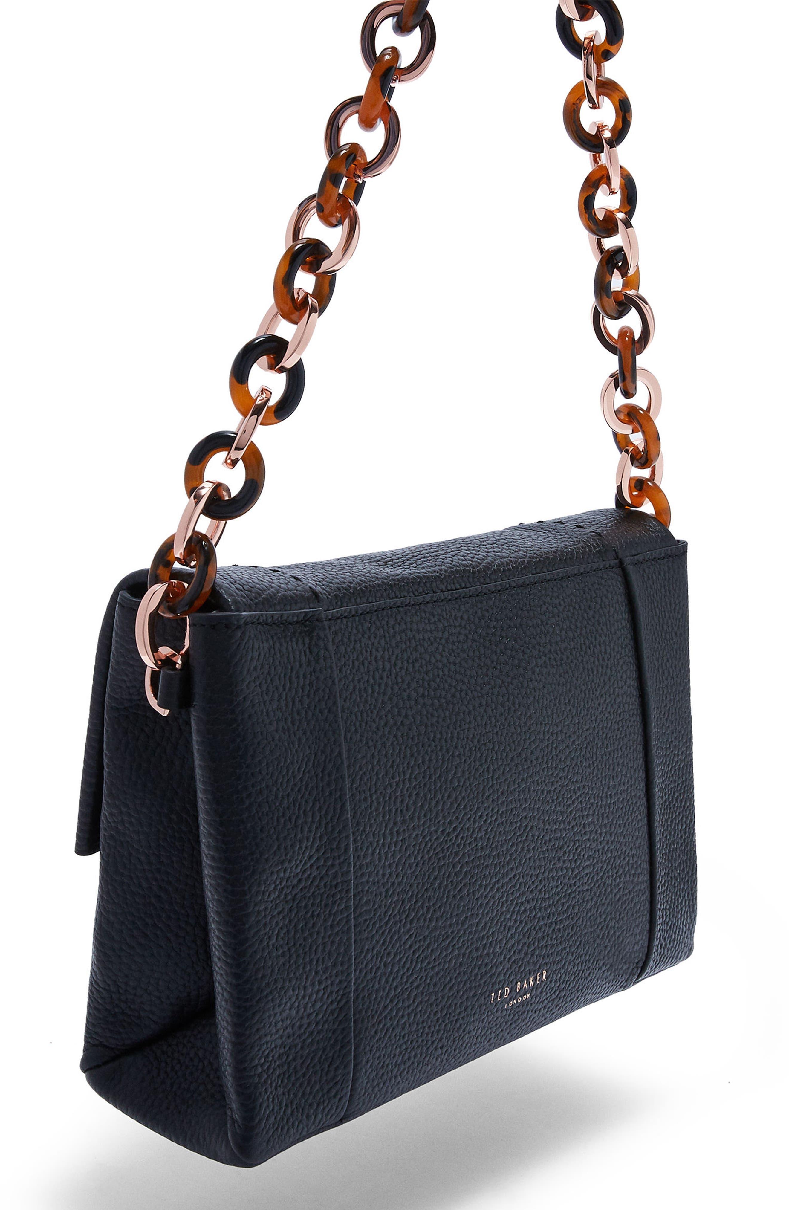 Ipomoea Leather Shoulder Bag,                             Alternate thumbnail 2, color,                             001