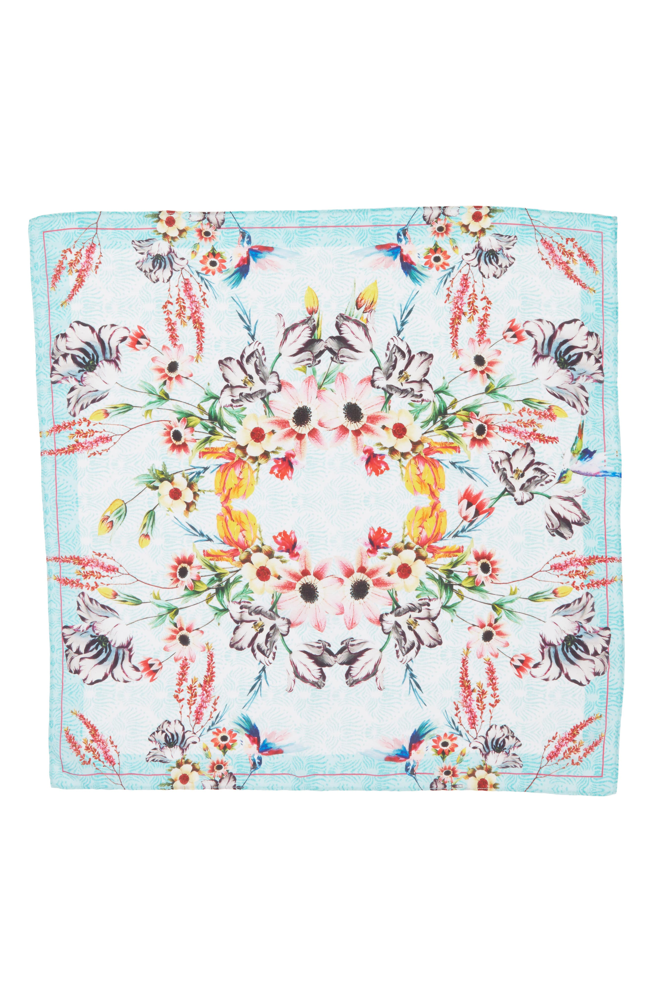 Print Silk Scarf,                             Alternate thumbnail 3, color,                             440