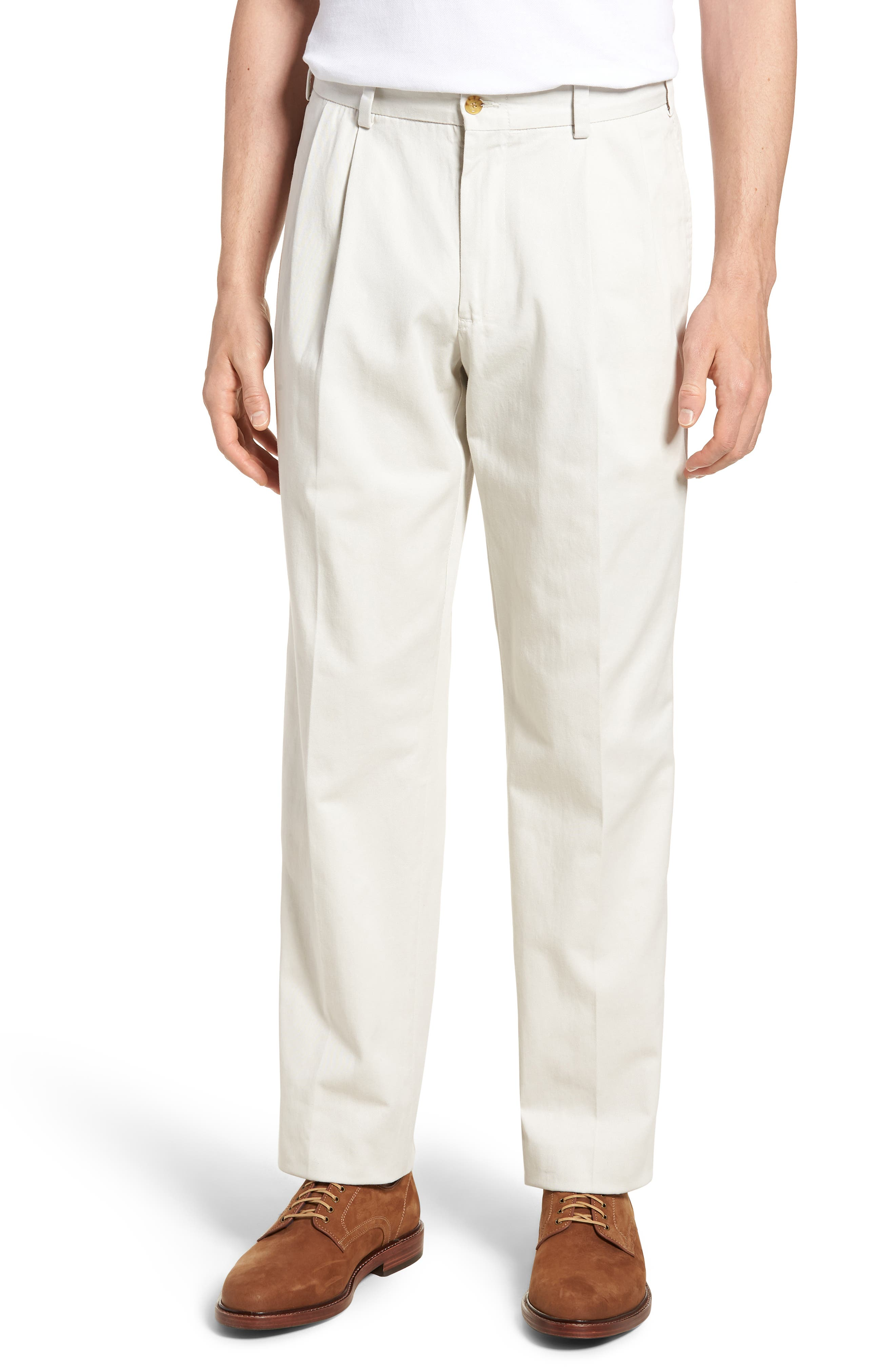 M2 Classic Fit Vintage Twill Pleated Pants,                             Main thumbnail 1, color,                             270