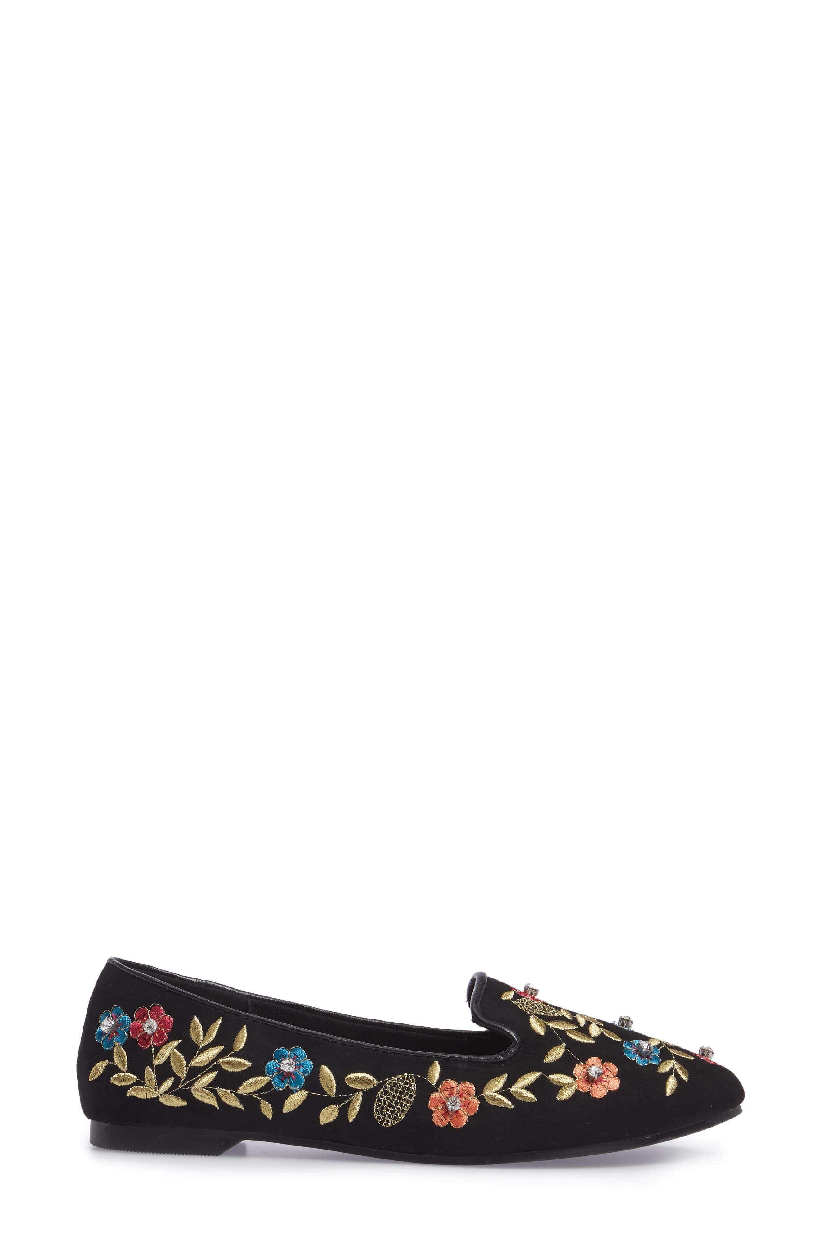 Sweetie Embroidered Loafer,                             Alternate thumbnail 3, color,                             001