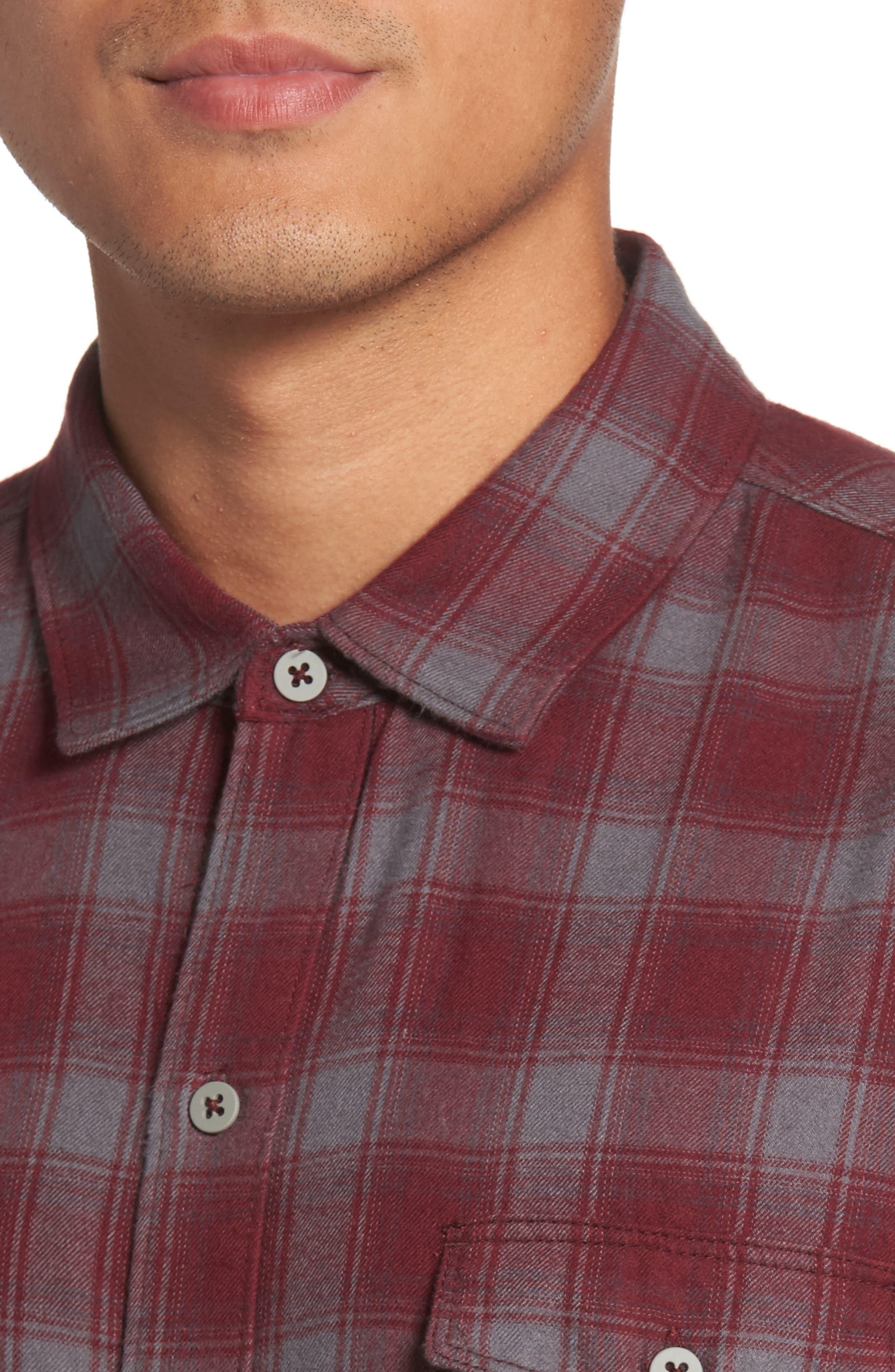 Everett Plaid Sport Shirt,                             Alternate thumbnail 8, color,