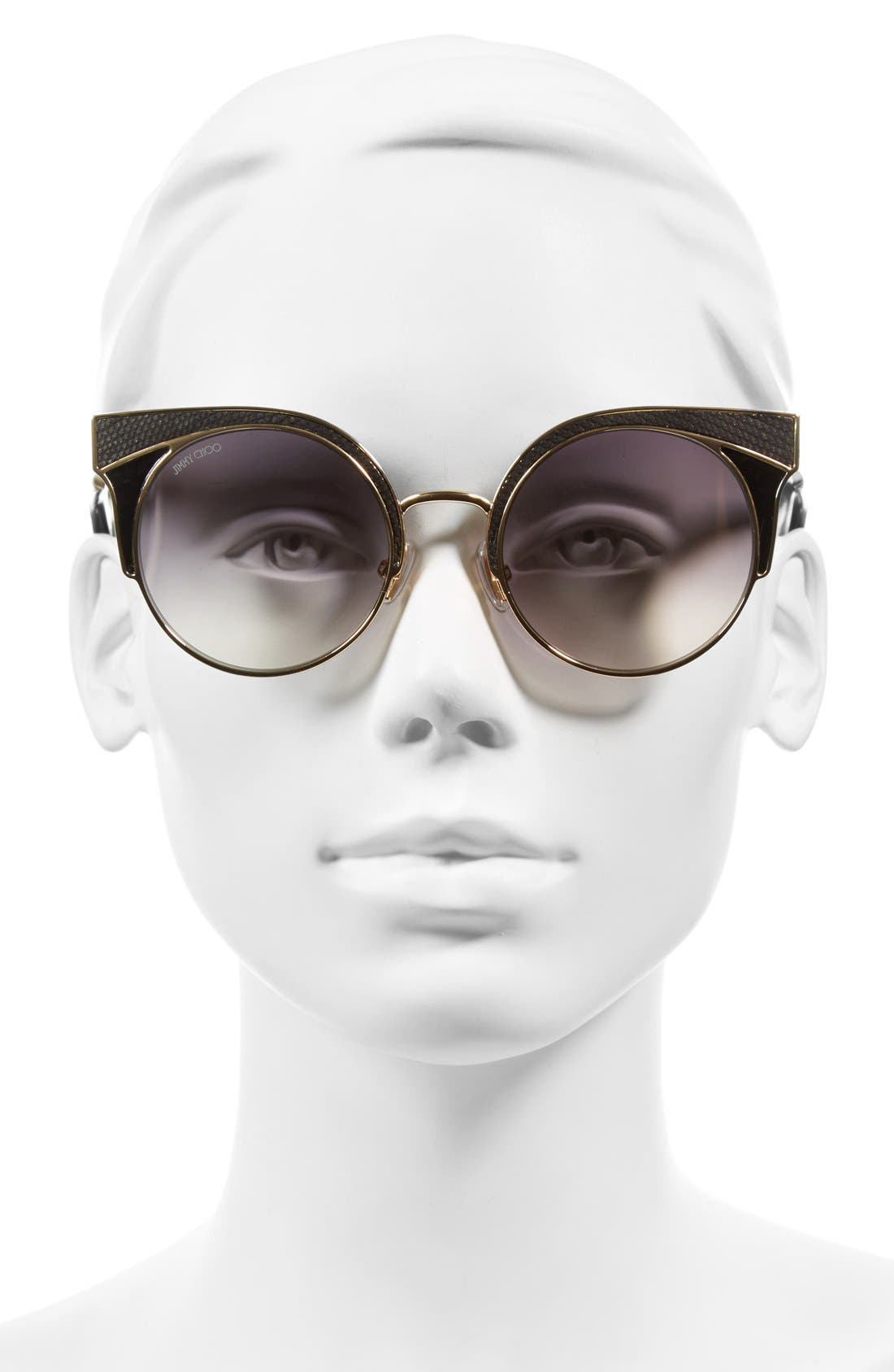 JIMMY CHOO,                             'Ora' 51mm Cat Eye Sunglasses,                             Alternate thumbnail 2, color,                             710
