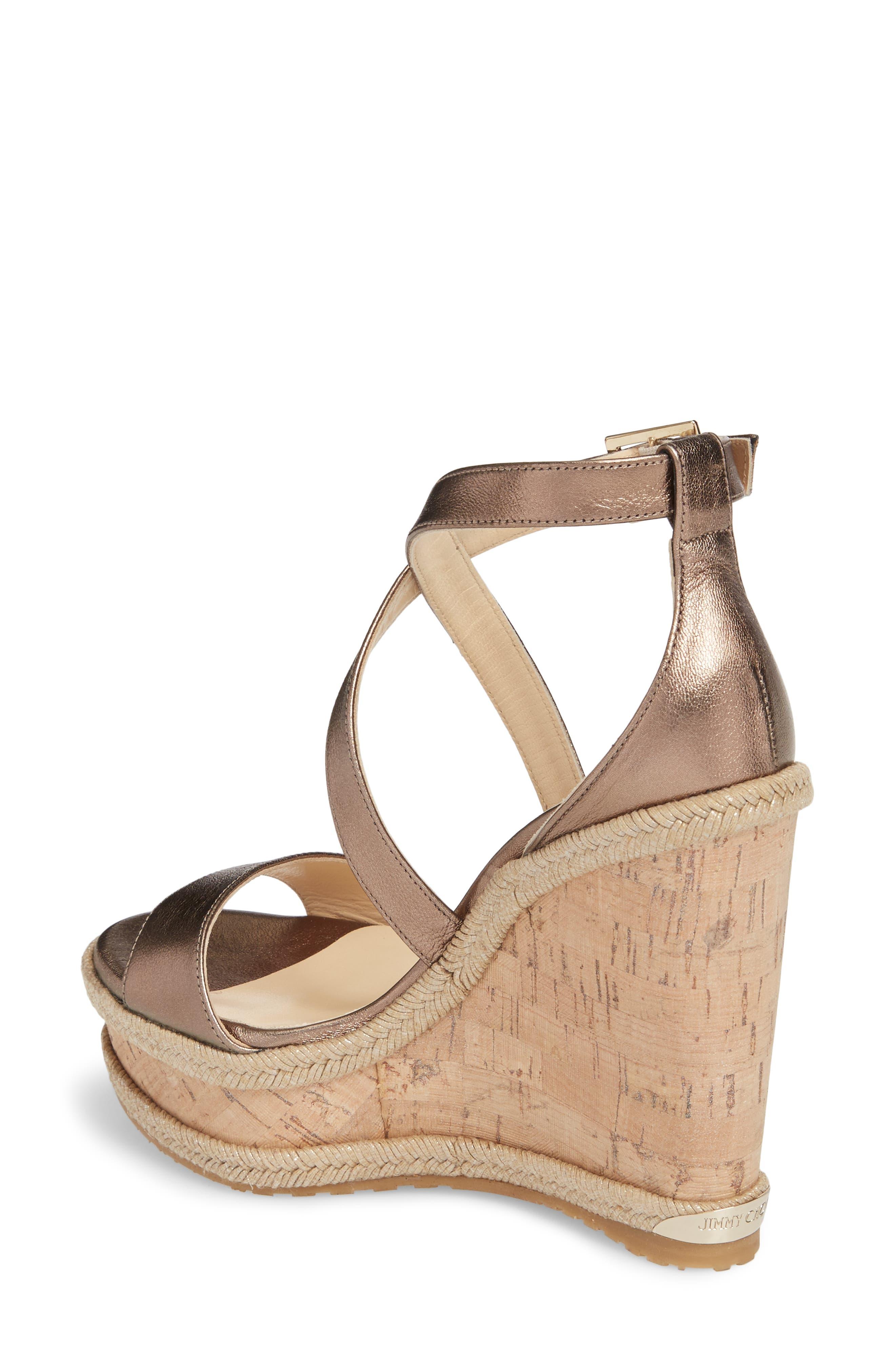 Portia Wedge Platform Sandal,                             Alternate thumbnail 2, color,                             710