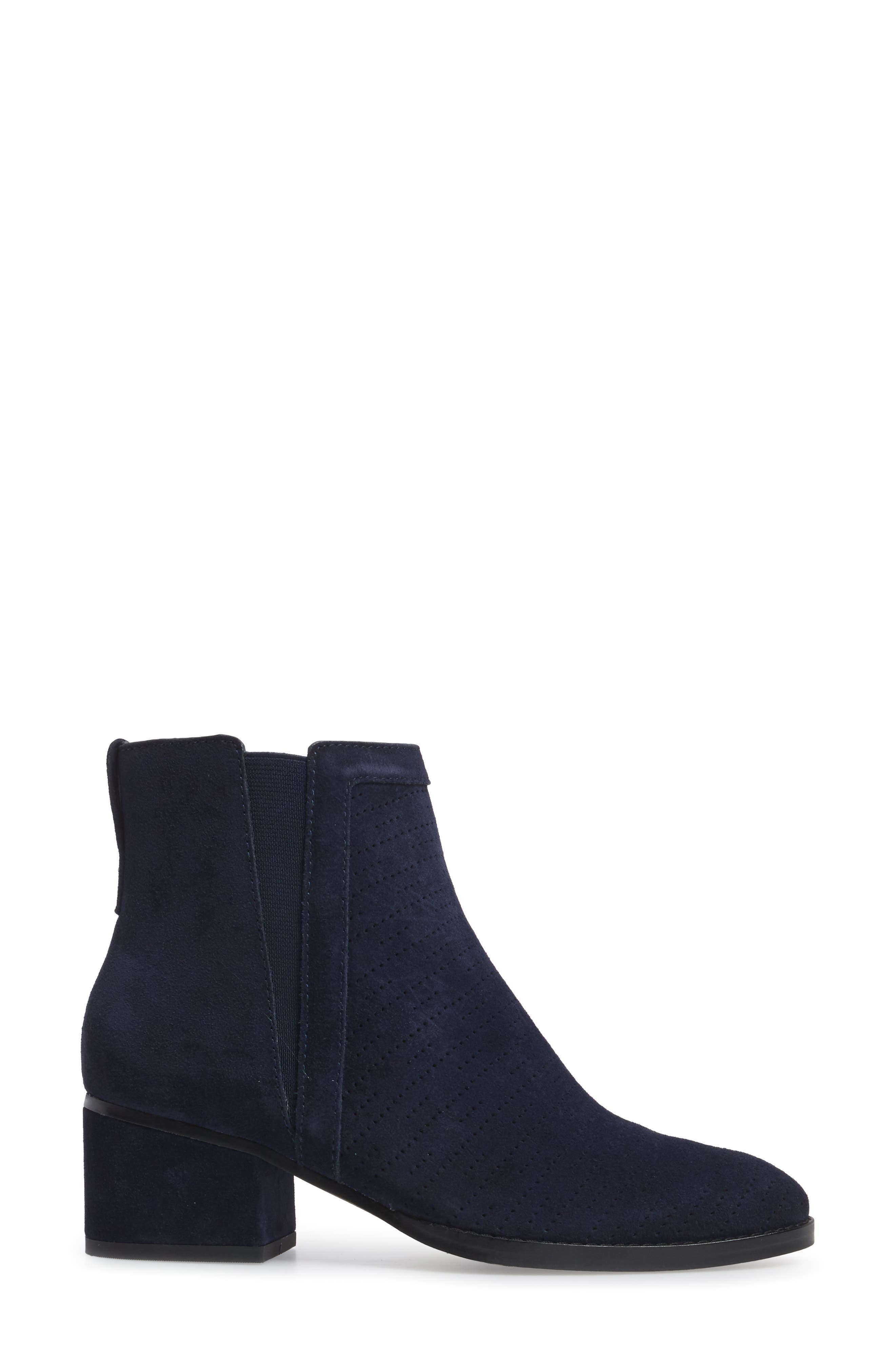 Rosalie Perforated Bootie,                             Alternate thumbnail 9, color,