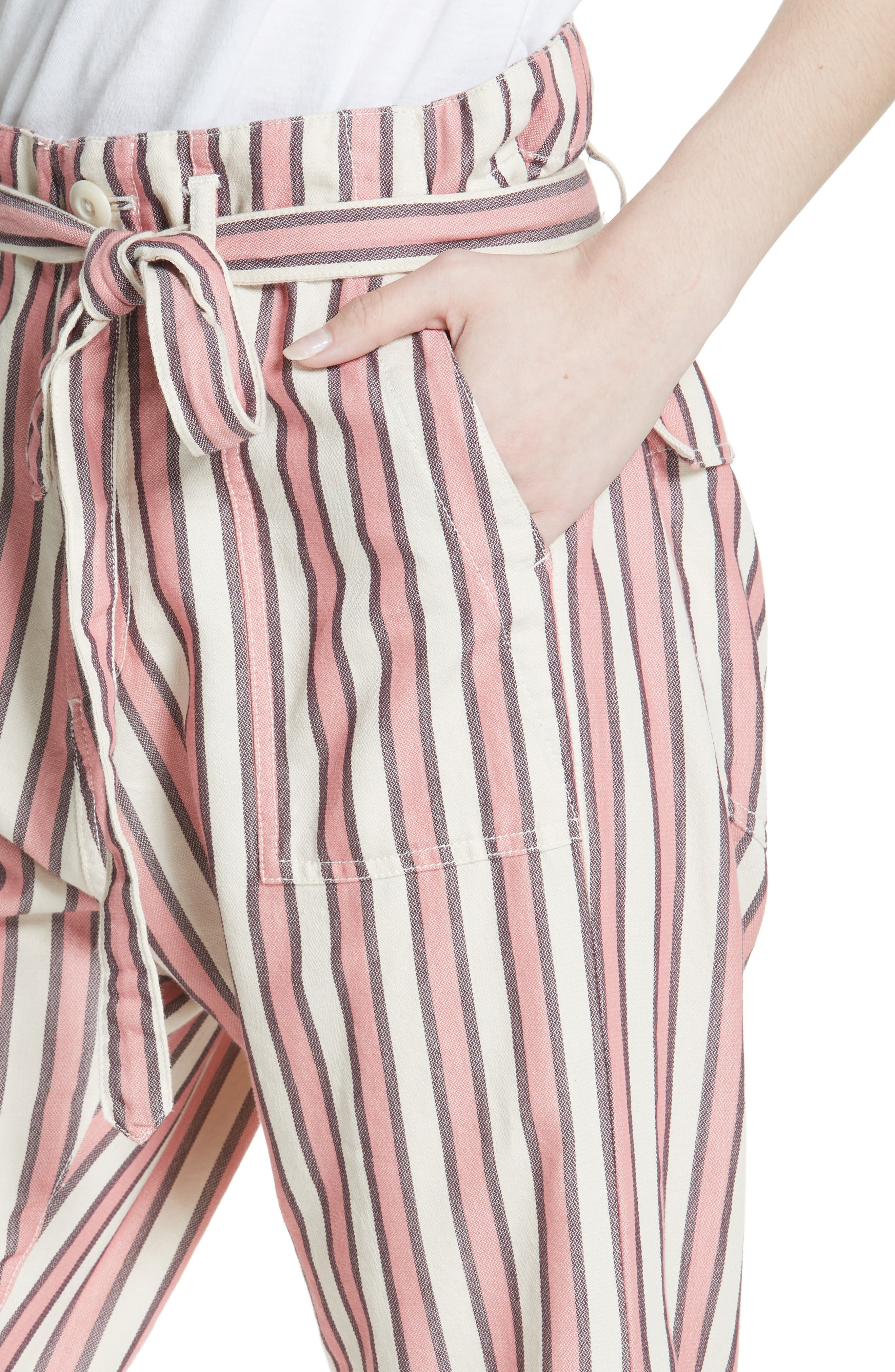 The Convertible Trousers,                             Alternate thumbnail 4, color,                             PINK TAFFY STRIPE