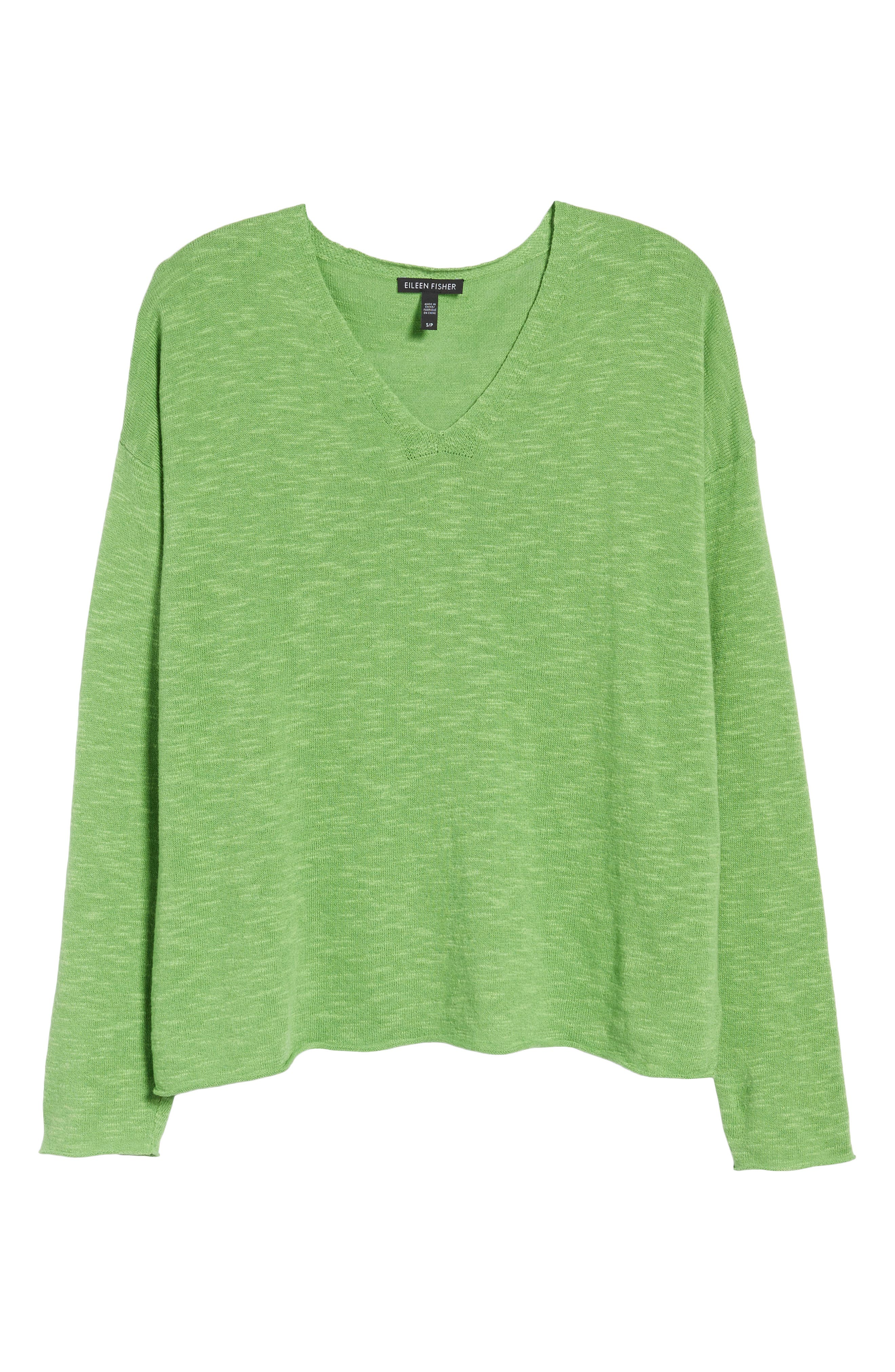 Boxy Organic Linen & Cotton Sweater,                             Alternate thumbnail 23, color,