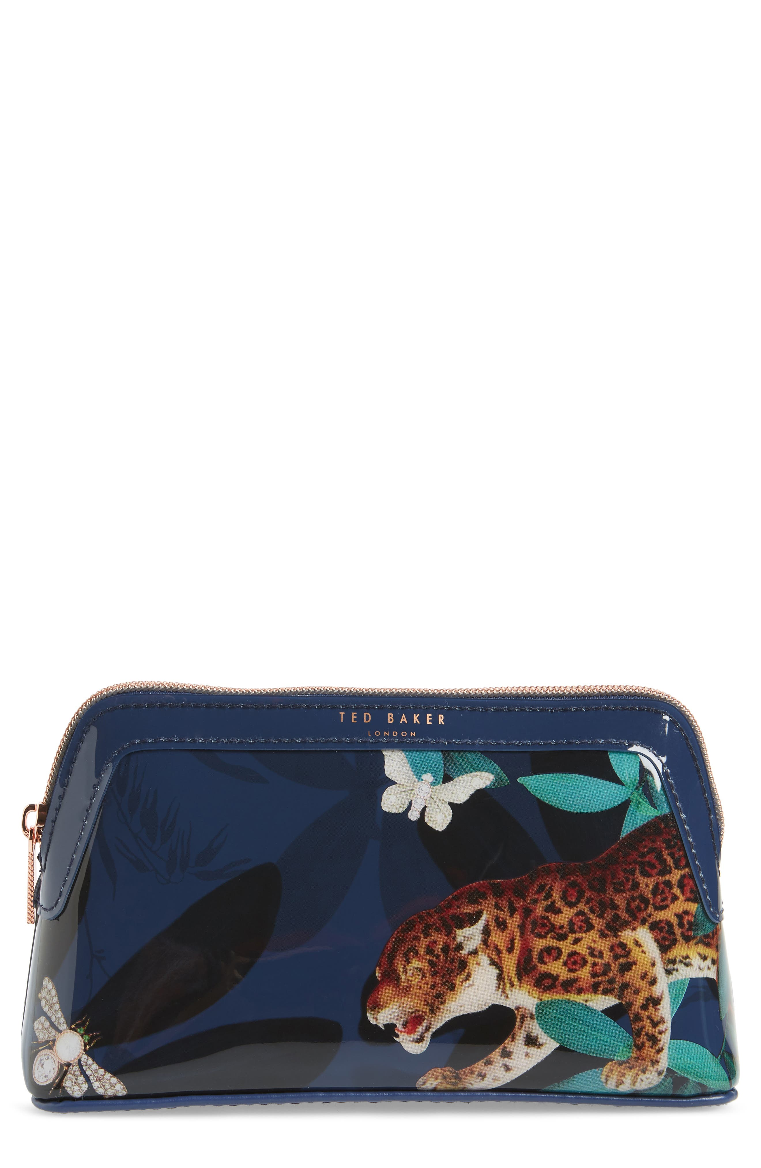 Libert Houdini Cosmetics Case, Main, color, NAVY