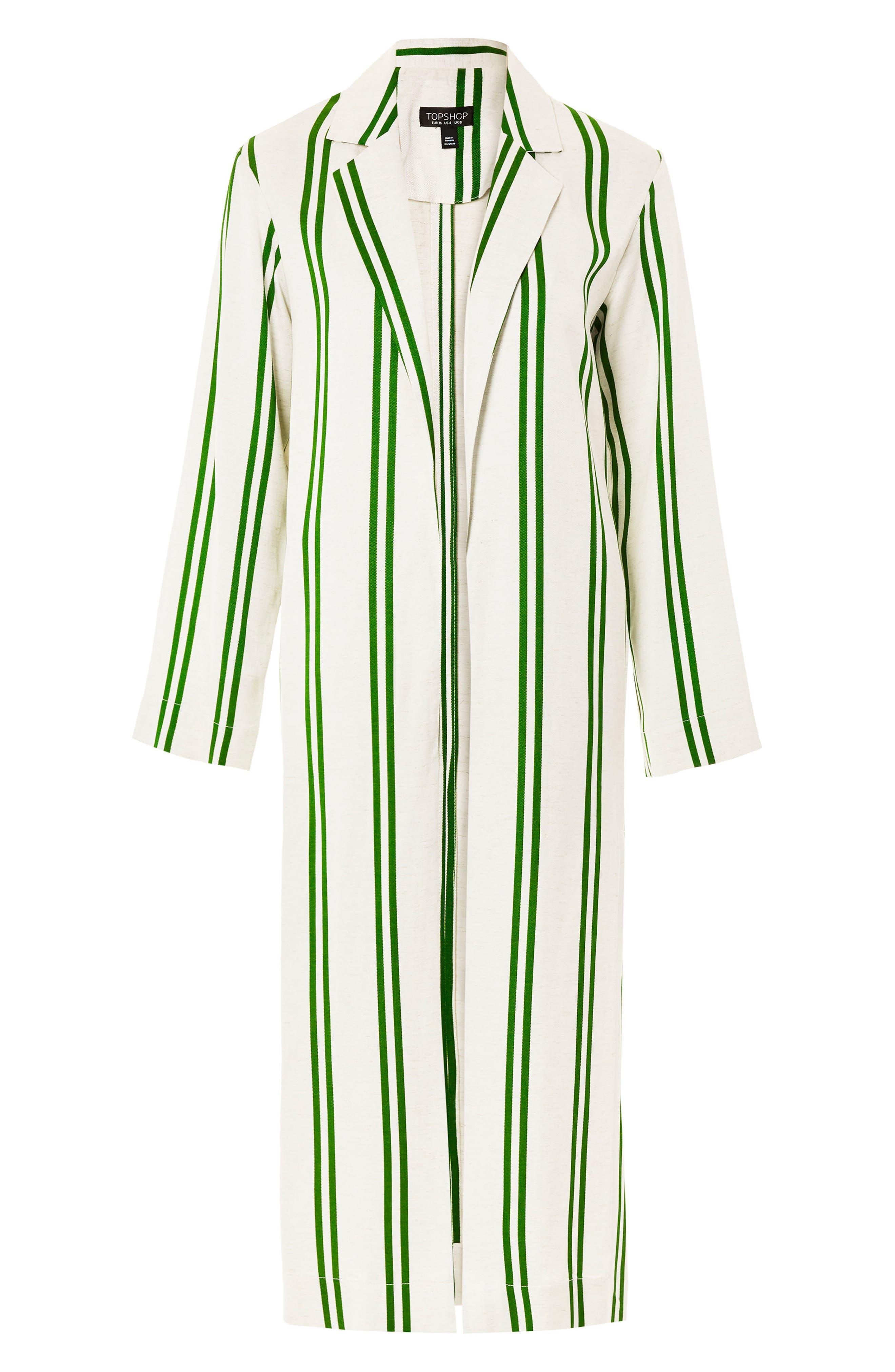 Slub Stripe Duster Coat,                             Alternate thumbnail 5, color,