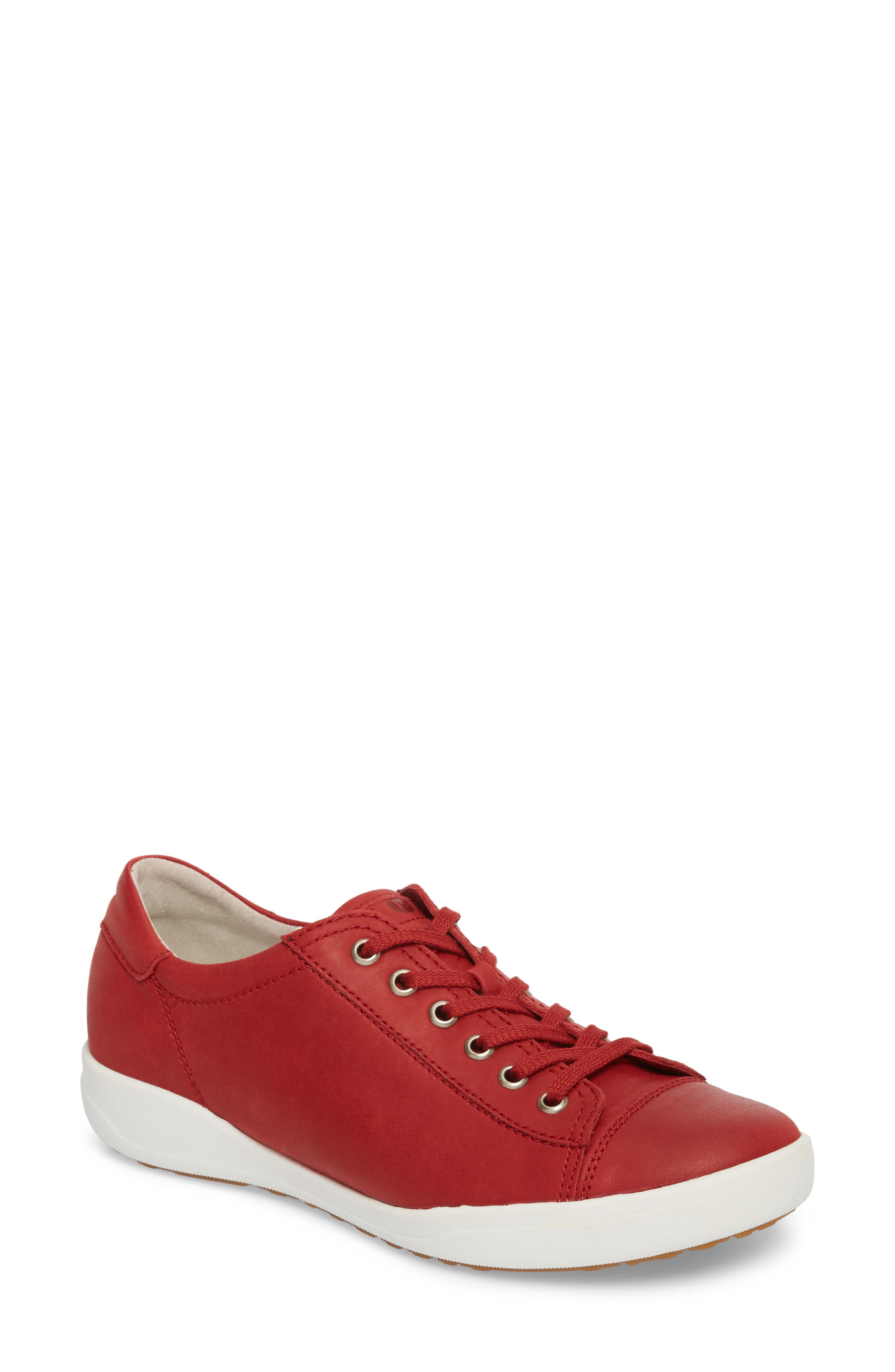 Sina 11 Sneaker,                             Main thumbnail 1, color,                             RED LEATHER 2