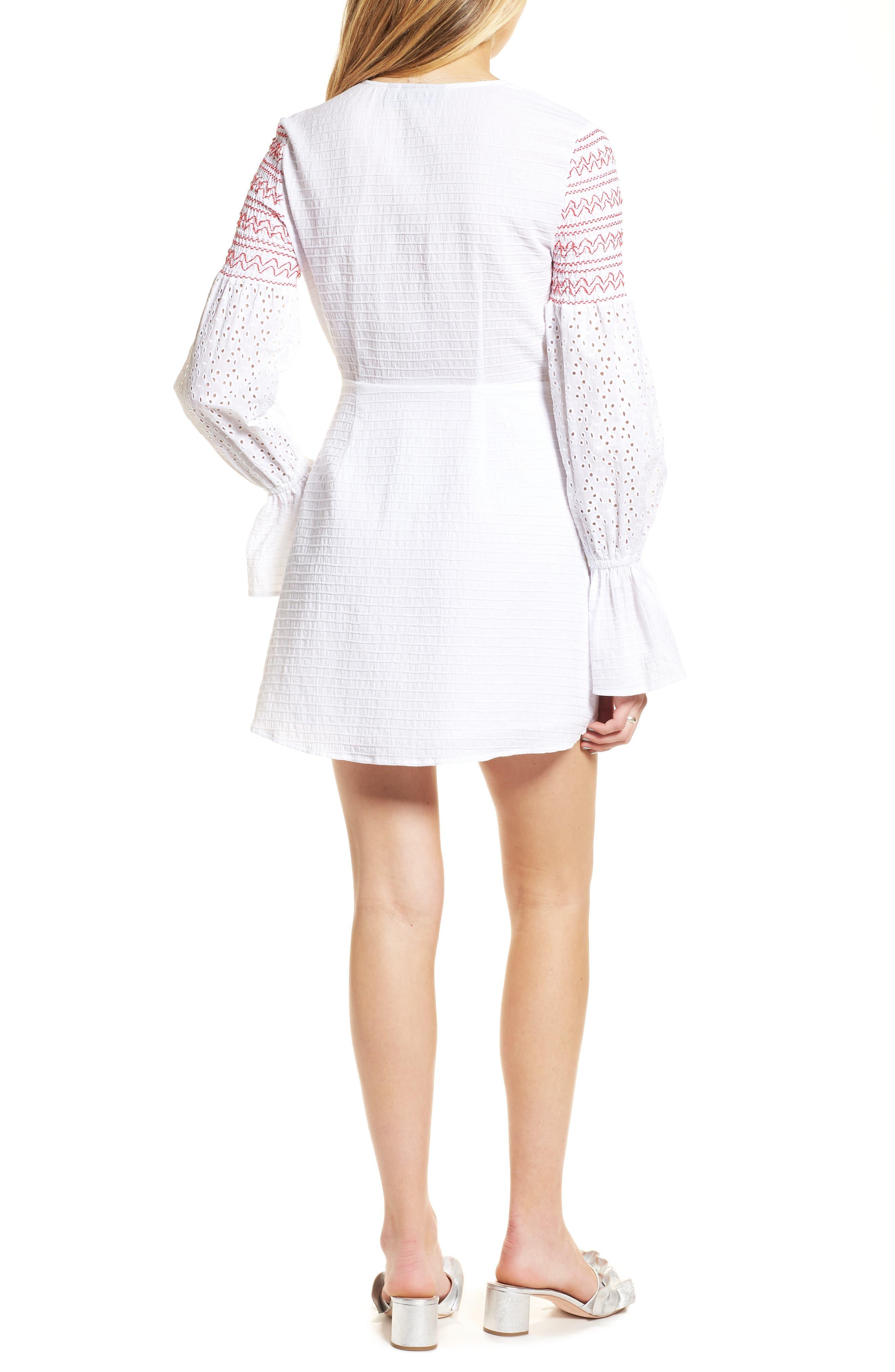 Riverine Smocked Wrap Dress,                             Alternate thumbnail 2, color,