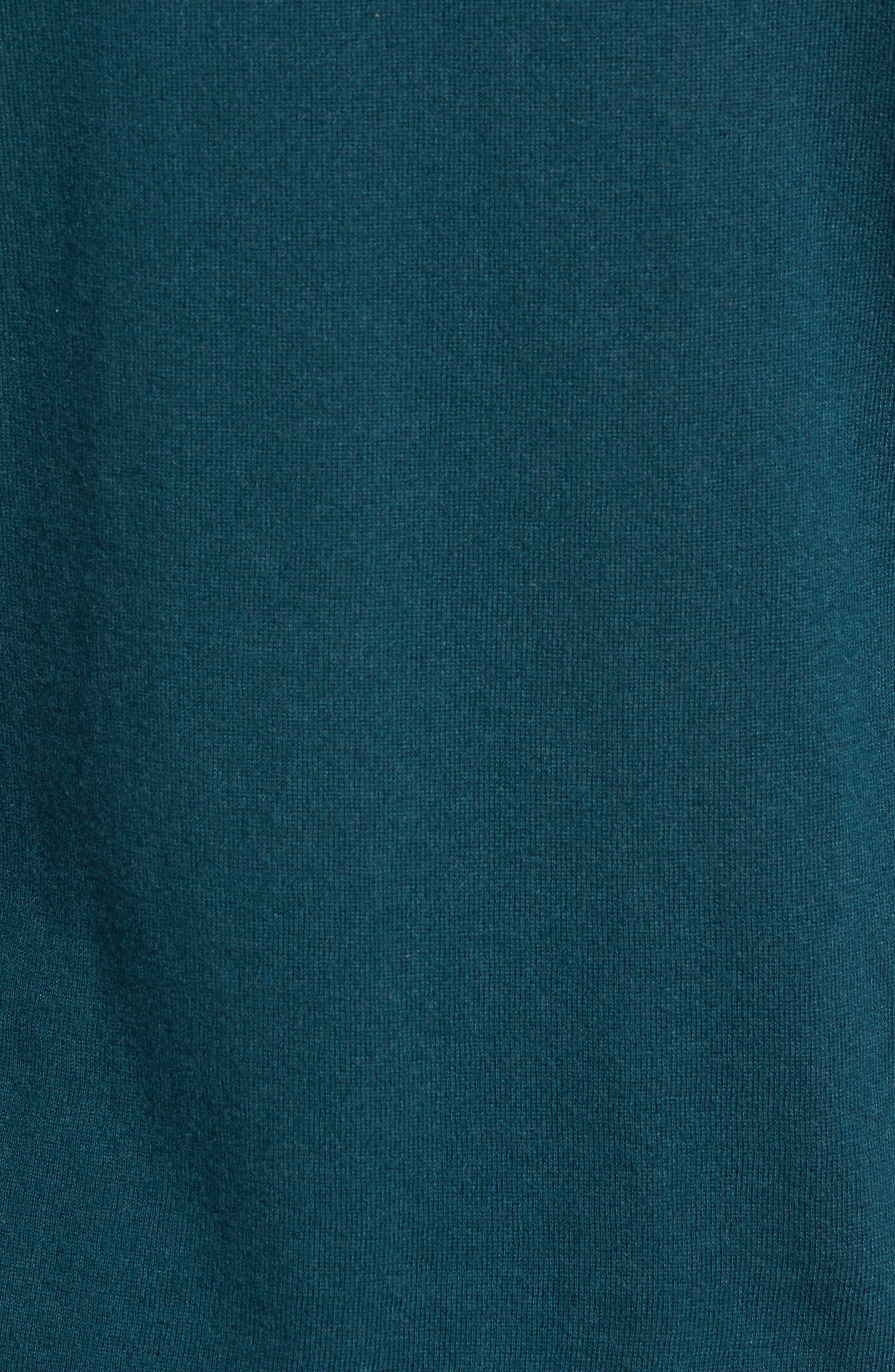 Cashmere Sweater,                             Alternate thumbnail 5, color,                             PETROL