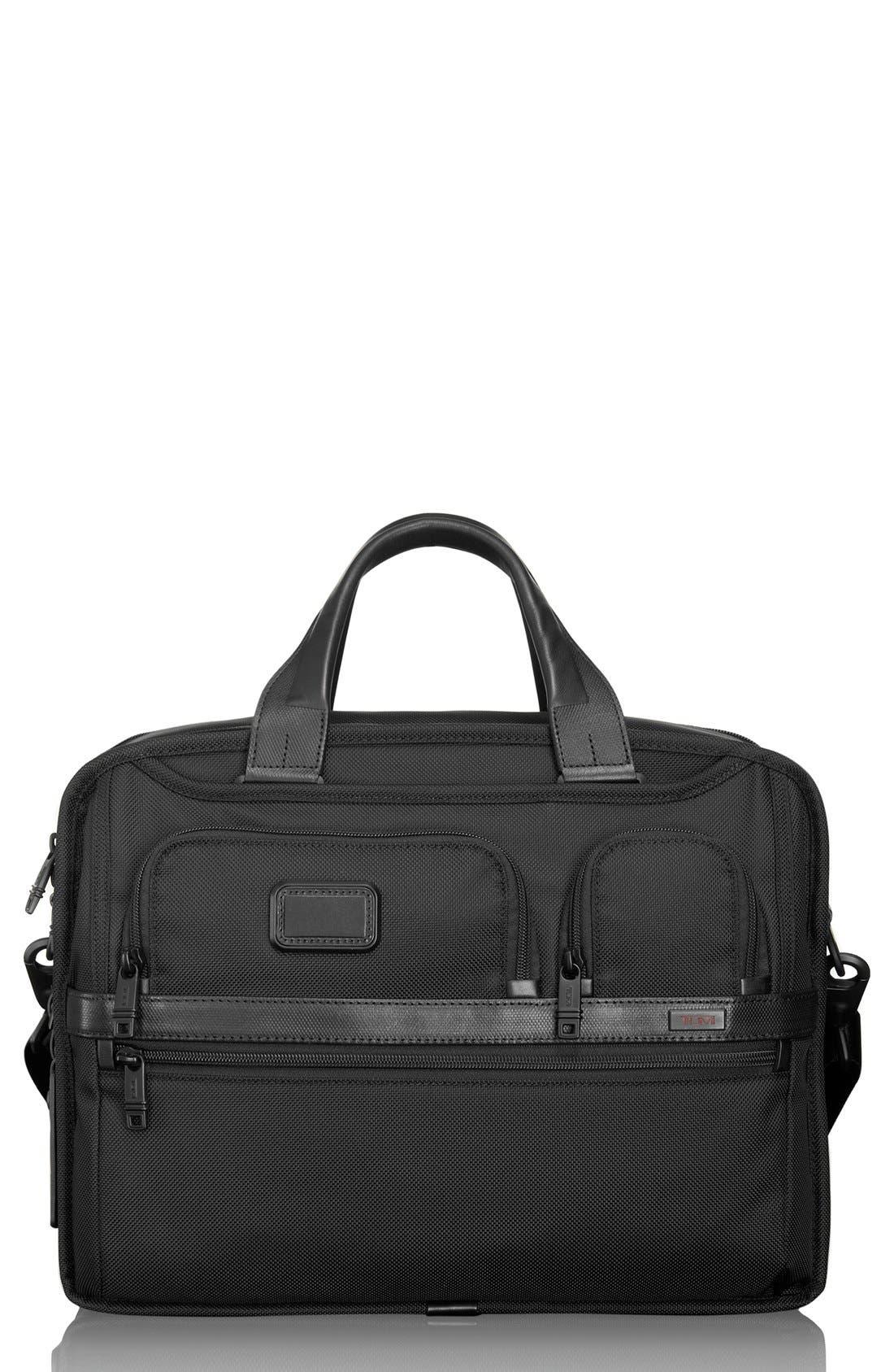 Alpha 2 Expandable Laptop Briefcase,                             Main thumbnail 1, color,                             BLACK