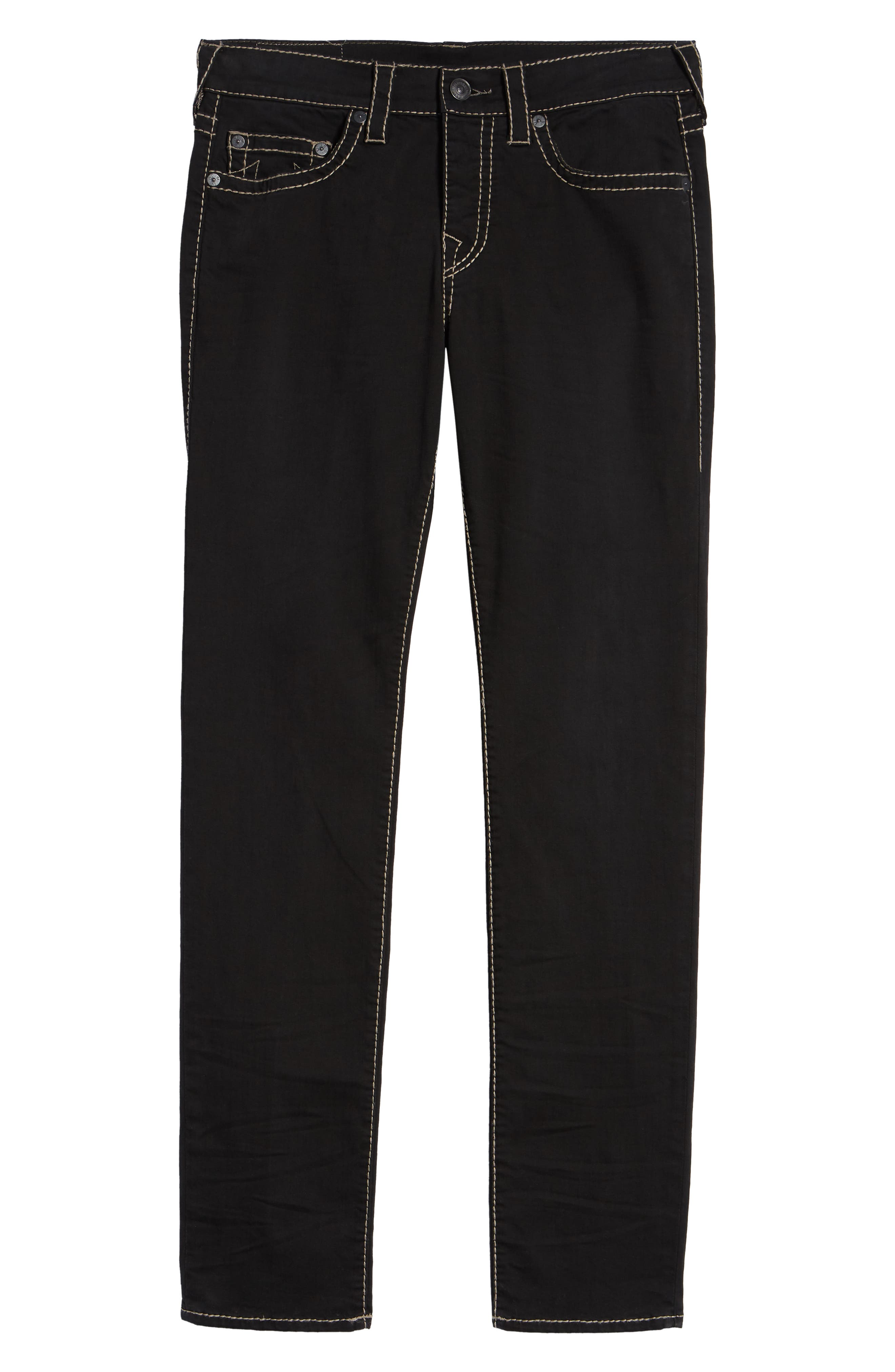 Rocco Skinny Fit Jeans,                             Alternate thumbnail 6, color,                             BLACK