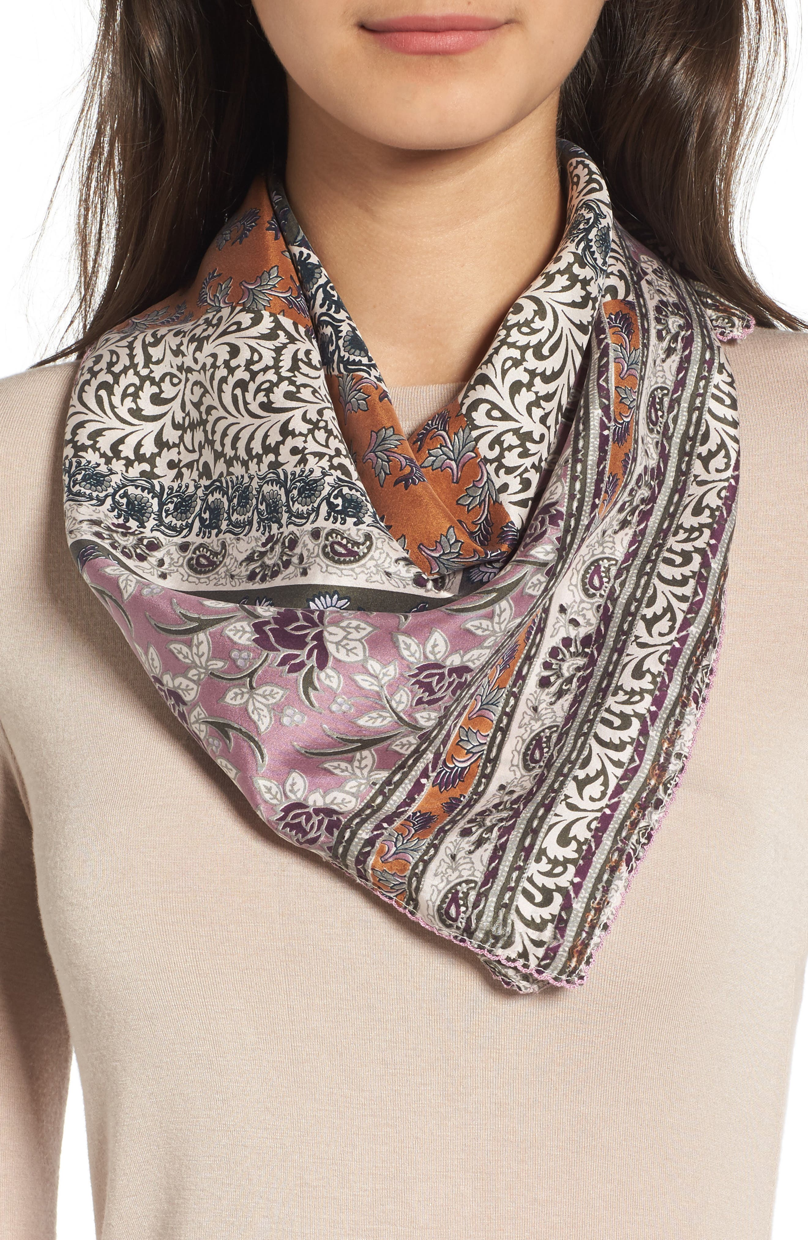 Bloomsbury Square Silk Scarf,                             Main thumbnail 1, color,                             315