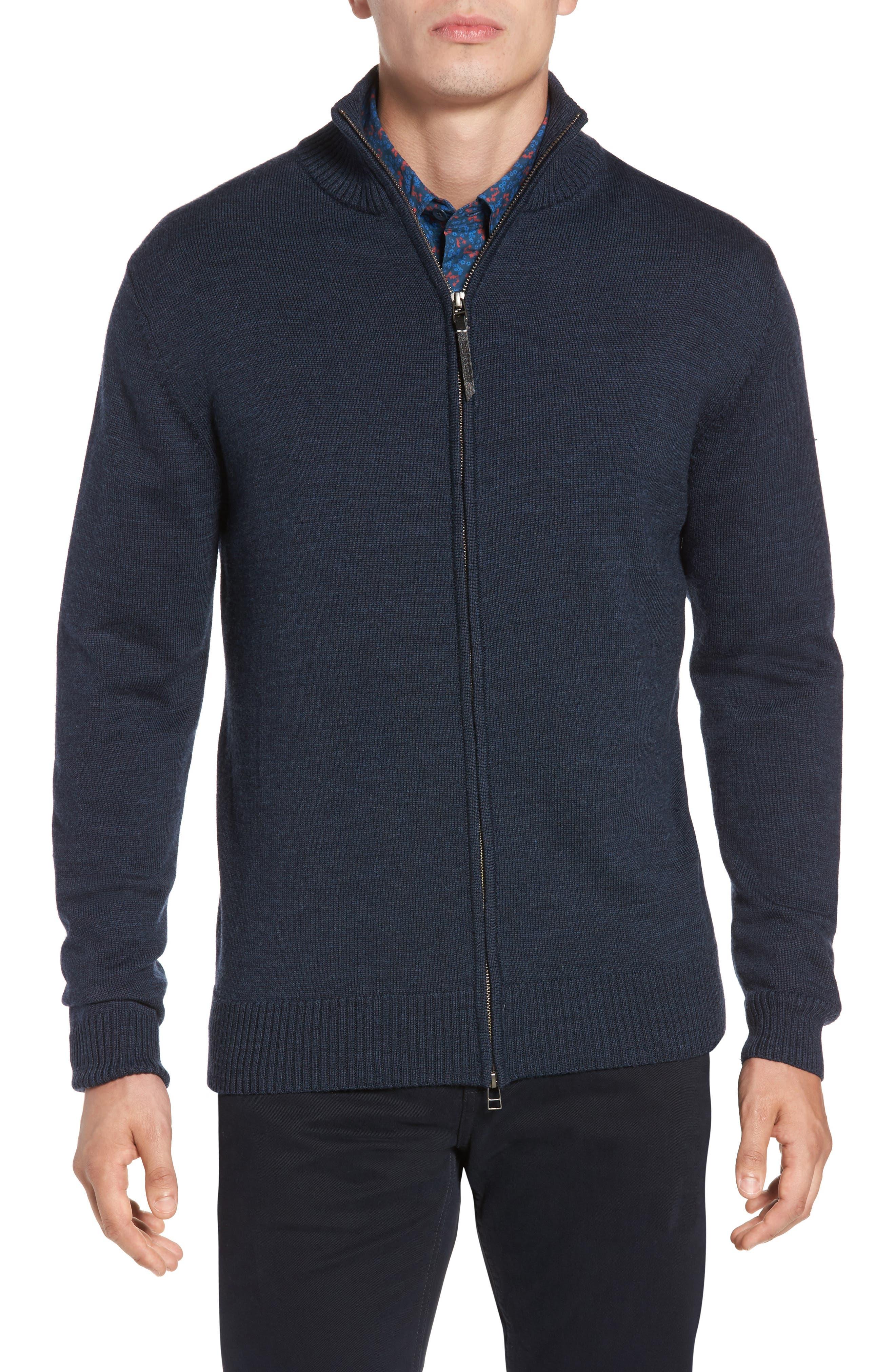 Roaring Meg Zip Wool Sweater,                         Main,                         color, 401