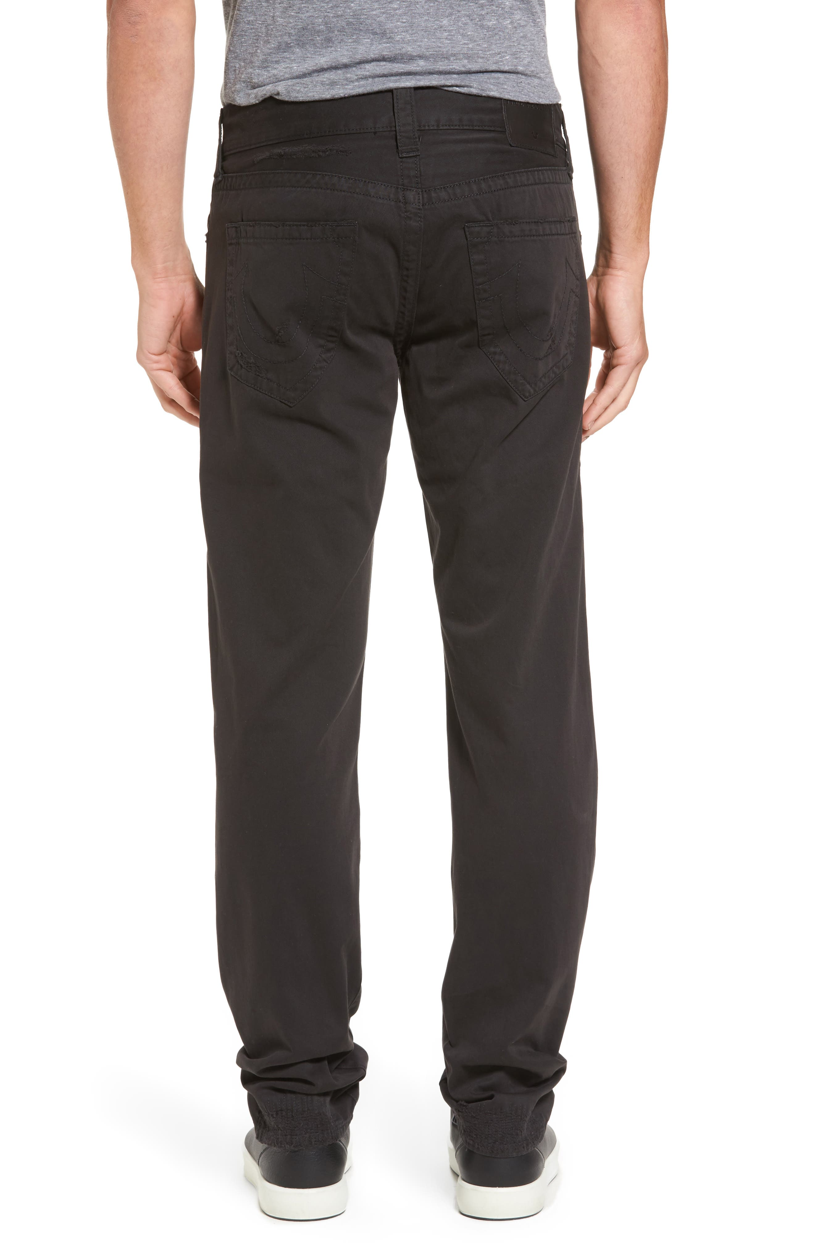 Geno Straight Fit Jeans,                             Alternate thumbnail 2, color,                             BLACK