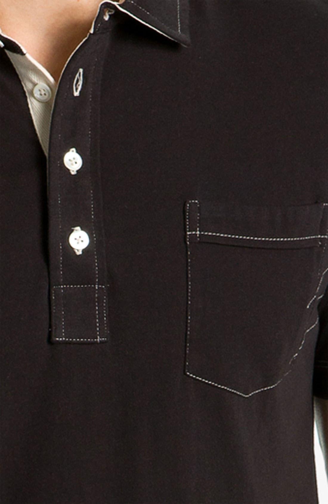 Pensacola Slim Fit Polo,                             Alternate thumbnail 3, color,                             001