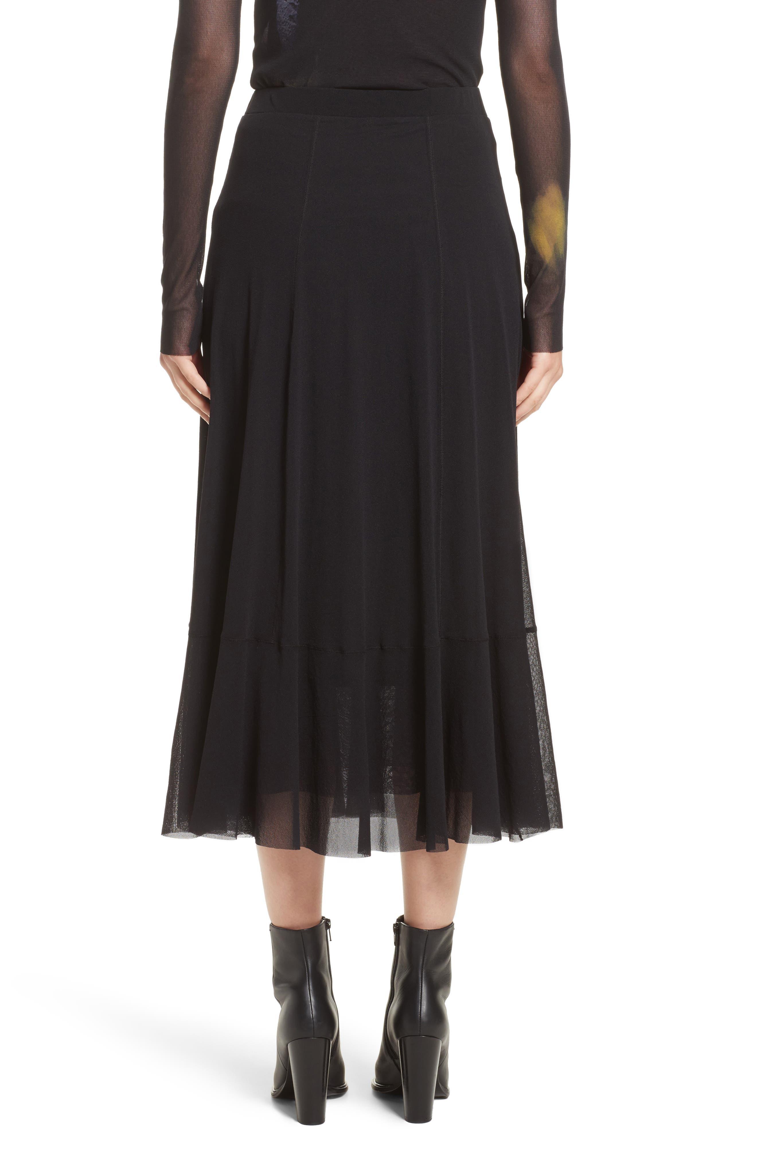 Tulle Midi Skirt,                             Alternate thumbnail 2, color,                             001