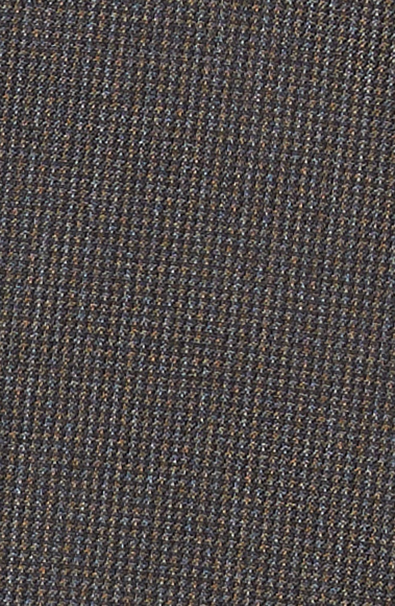 Huge/Genius Trim Fit Solid Wool Suit,                             Alternate thumbnail 5, color,                             DARK BROWN