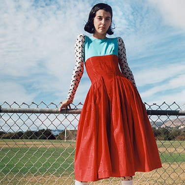 Robe de mariРіВ©e rouge courte