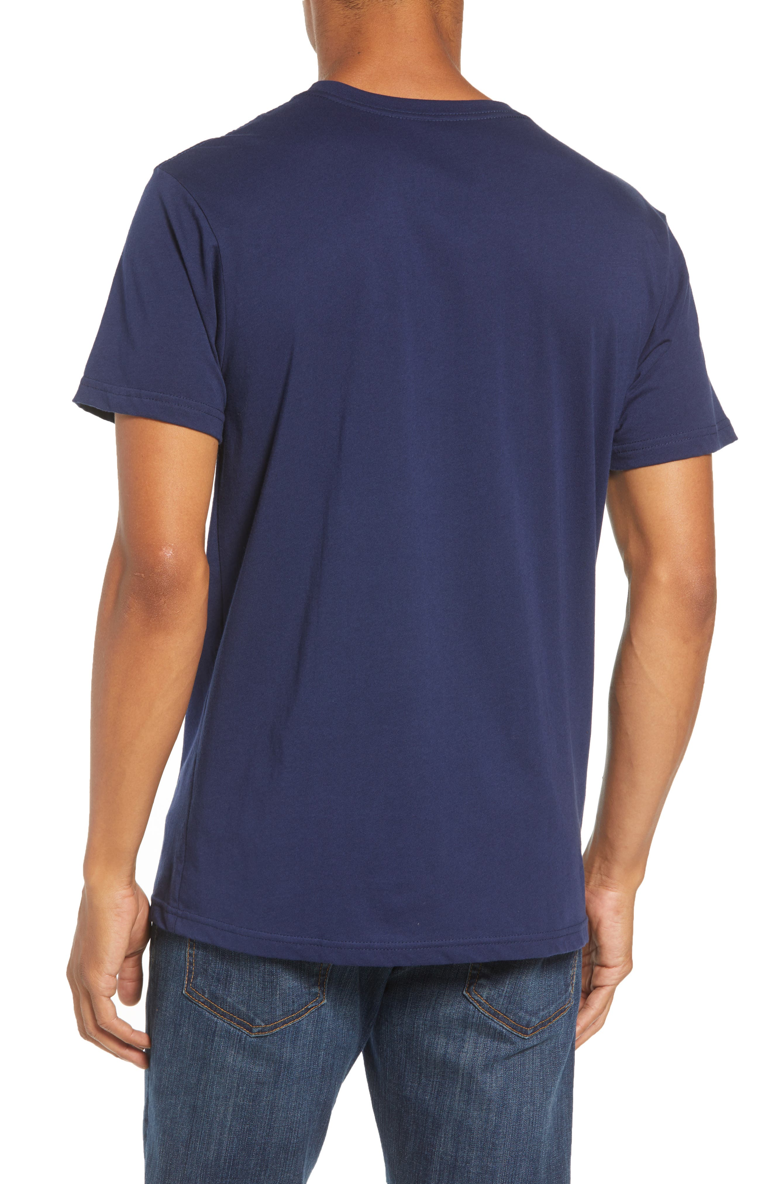 Hoofin It Organic Cotton Graphic T-Shirt,                             Alternate thumbnail 2, color,                             CLASSIC NAVY