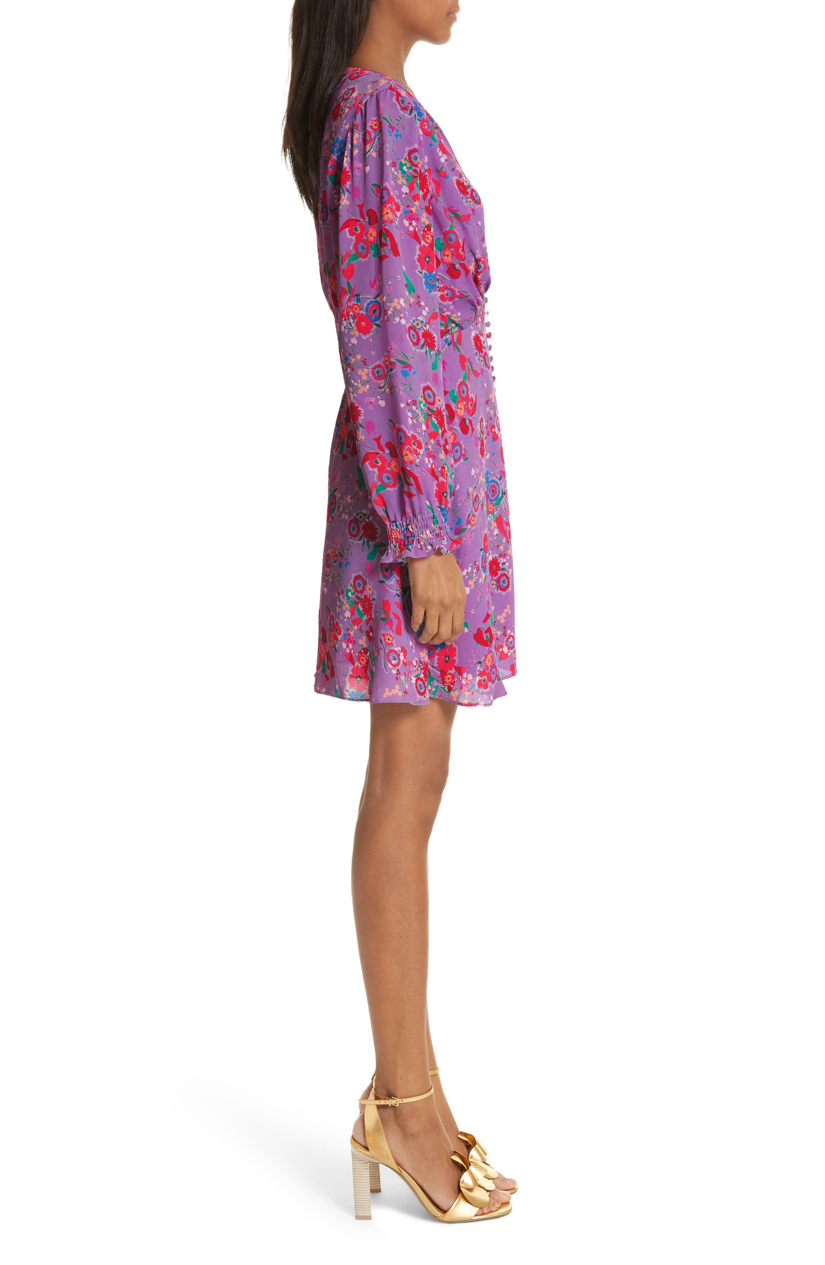 Eve Floral Print Dress,                             Alternate thumbnail 3, color,                             531