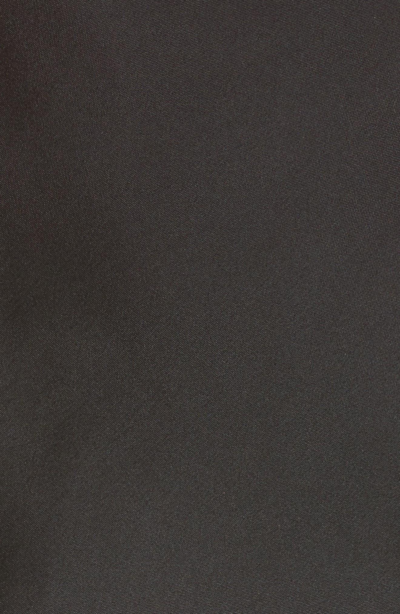 Satin Cowl Neck Halter Top,                             Alternate thumbnail 5, color,                             001