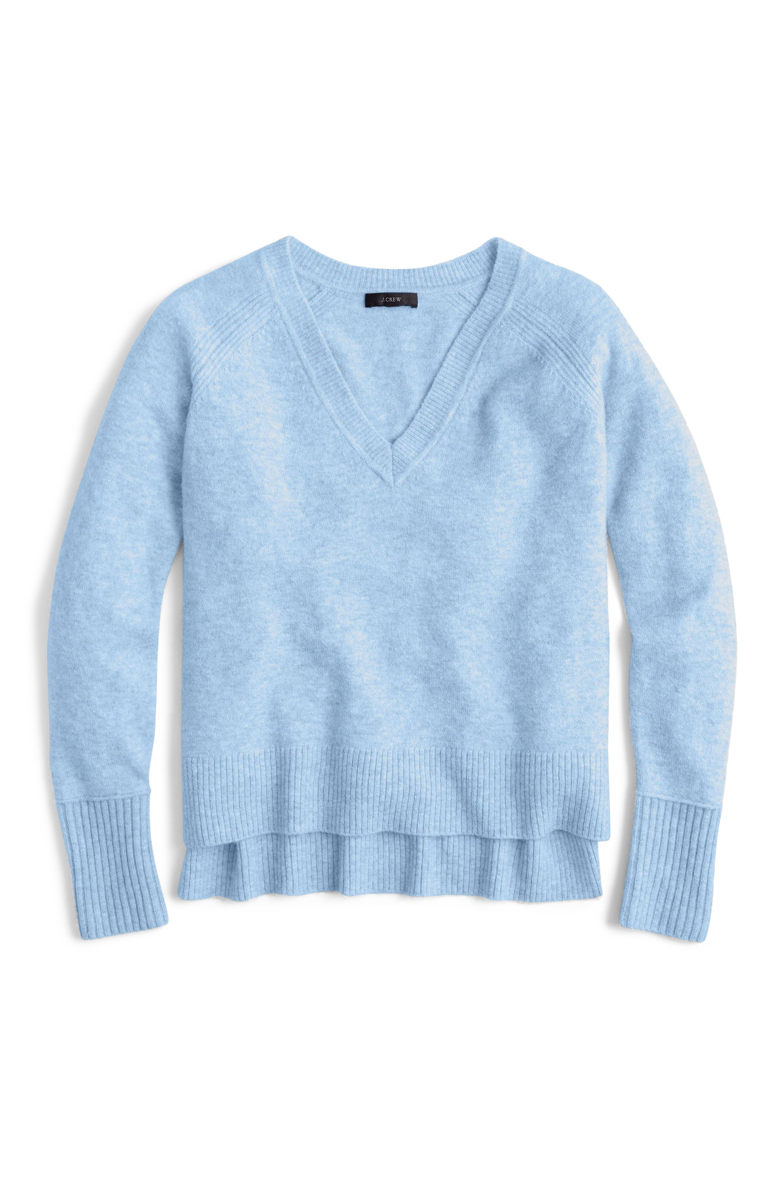 Supersoft Yarn V-Neck Sweater,                             Main thumbnail 4, color,