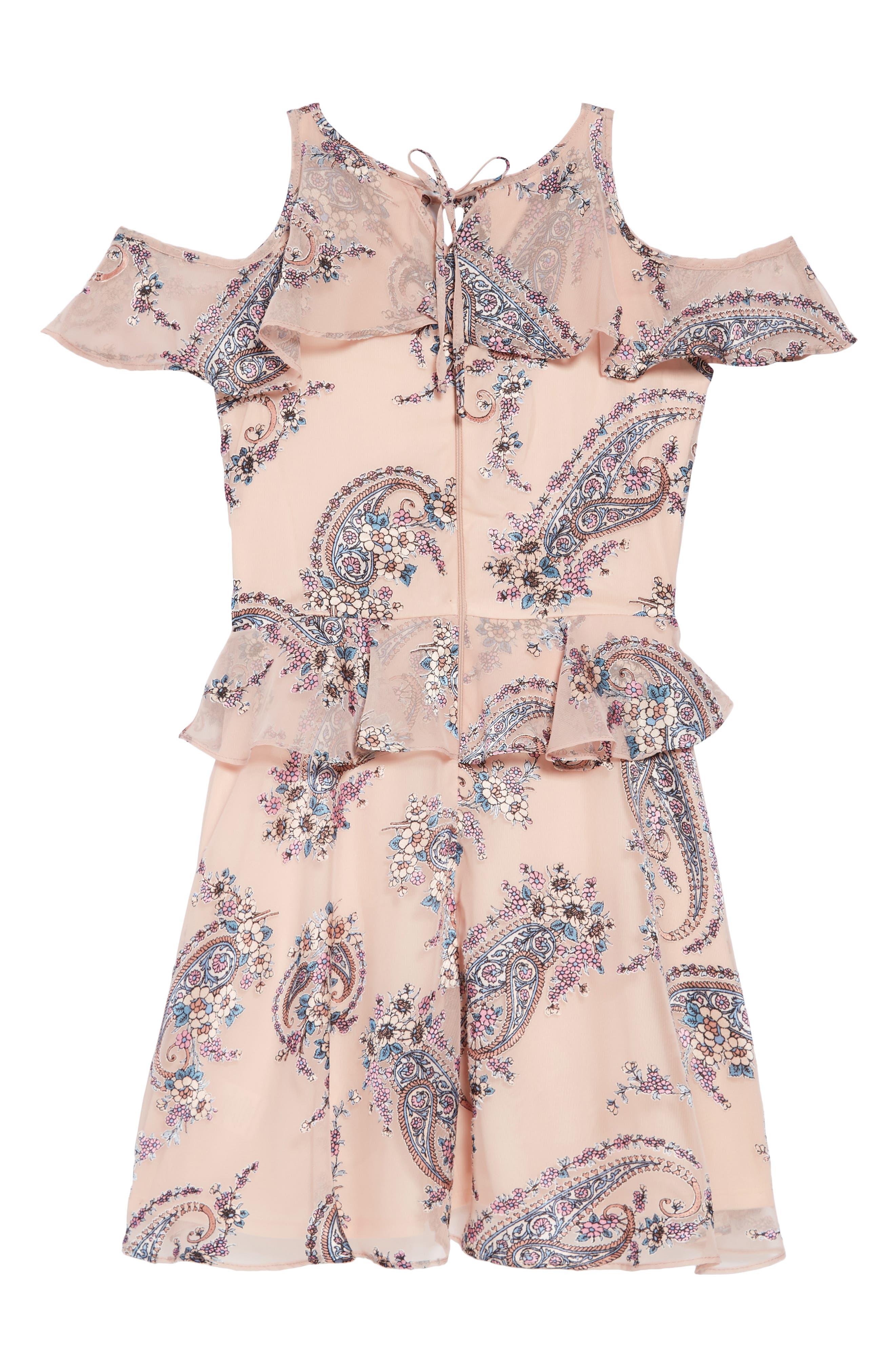 Paisley Cold Shoulder Dress,                             Alternate thumbnail 2, color,                             680