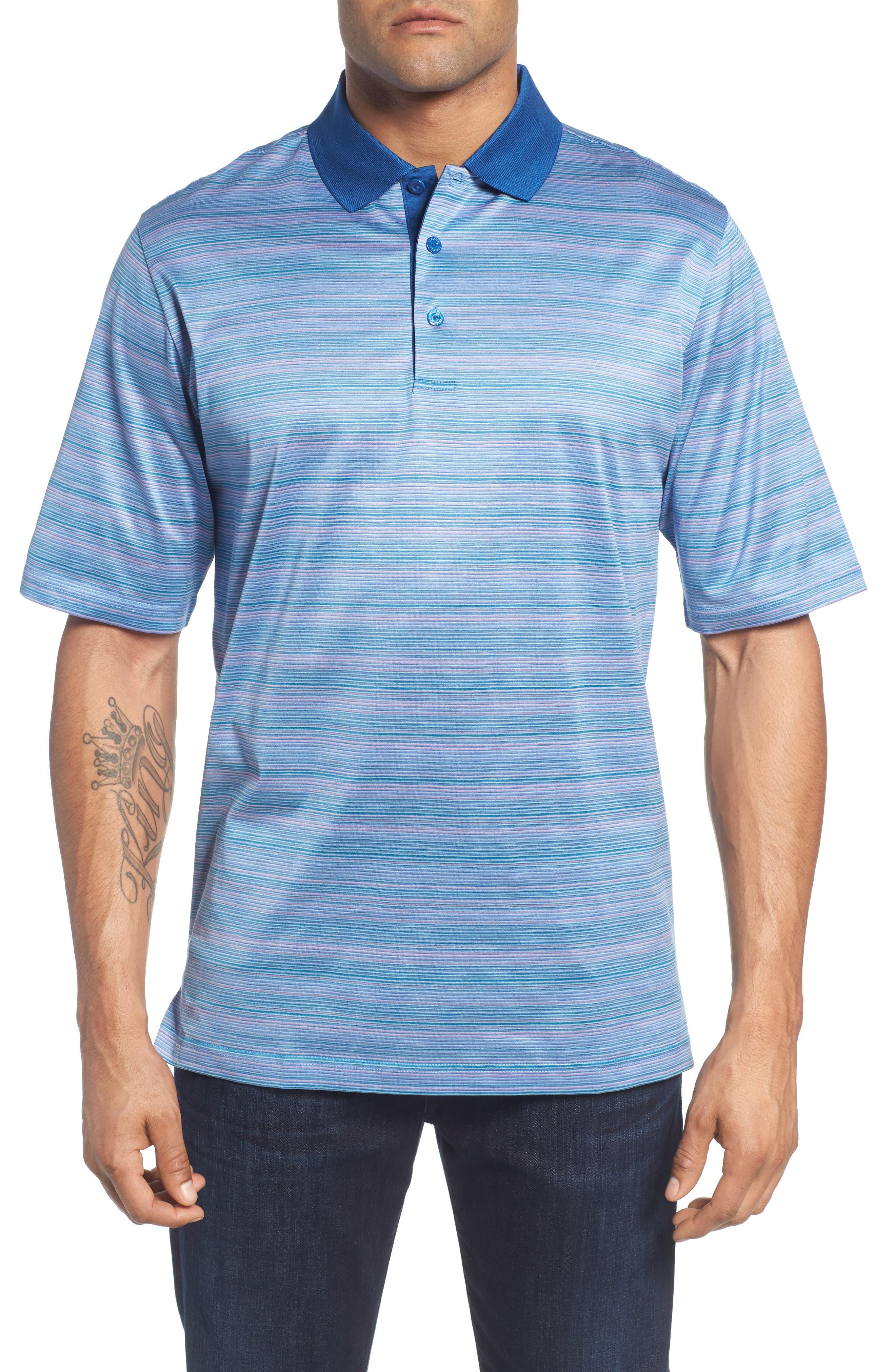 Stripe Mercerized Cotton Polo,                         Main,                         color, 513