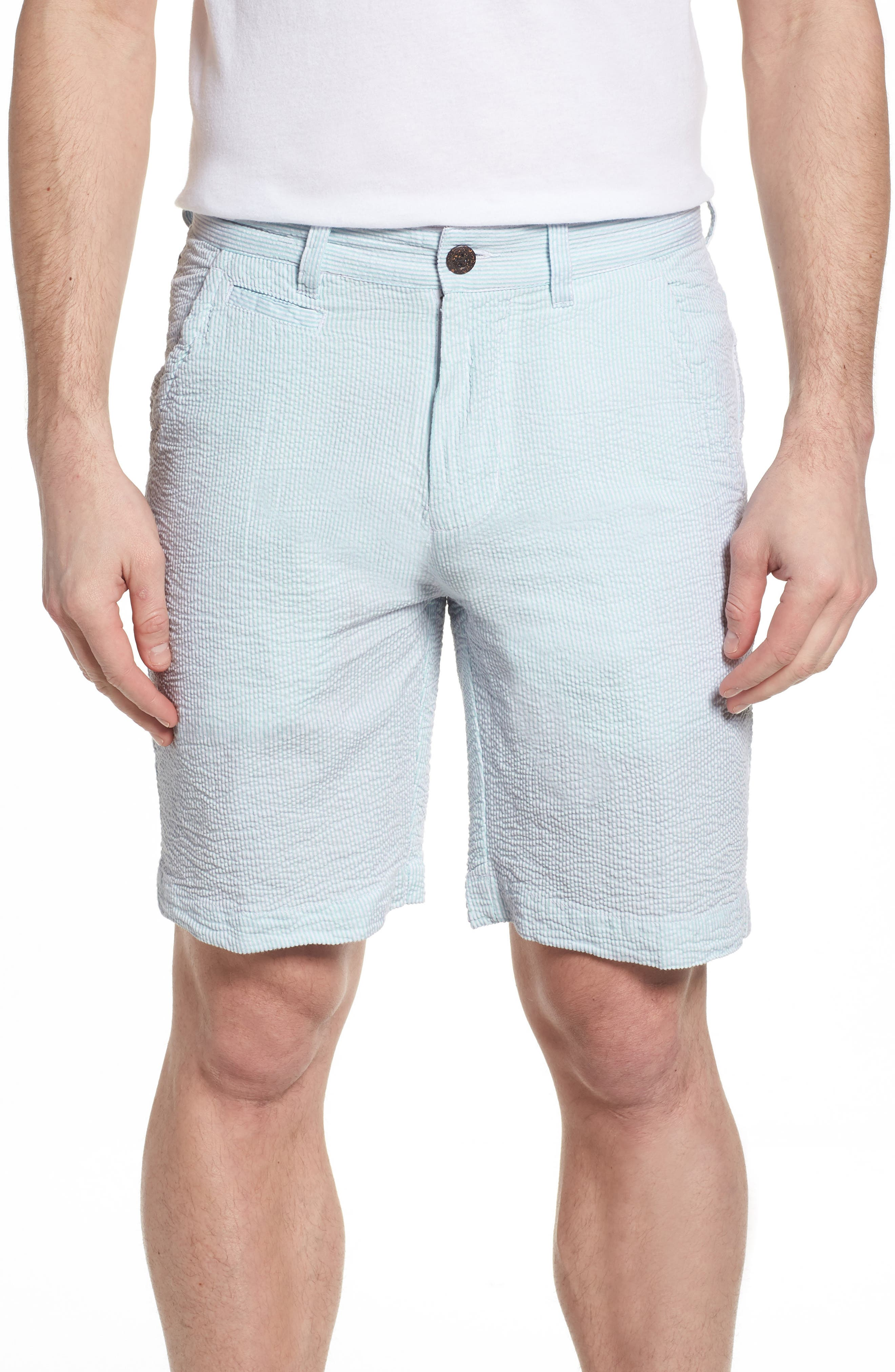 Vintage Wash Seersucker Shorts,                         Main,                         color, 450